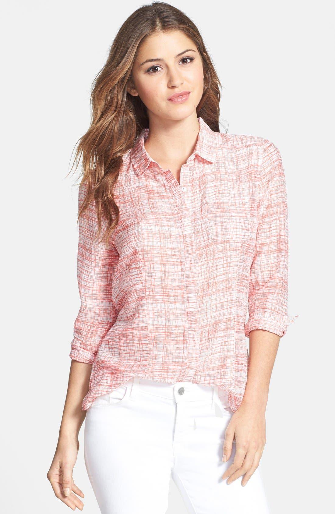 Cotton & Silk Shirt,                             Main thumbnail 44, color,