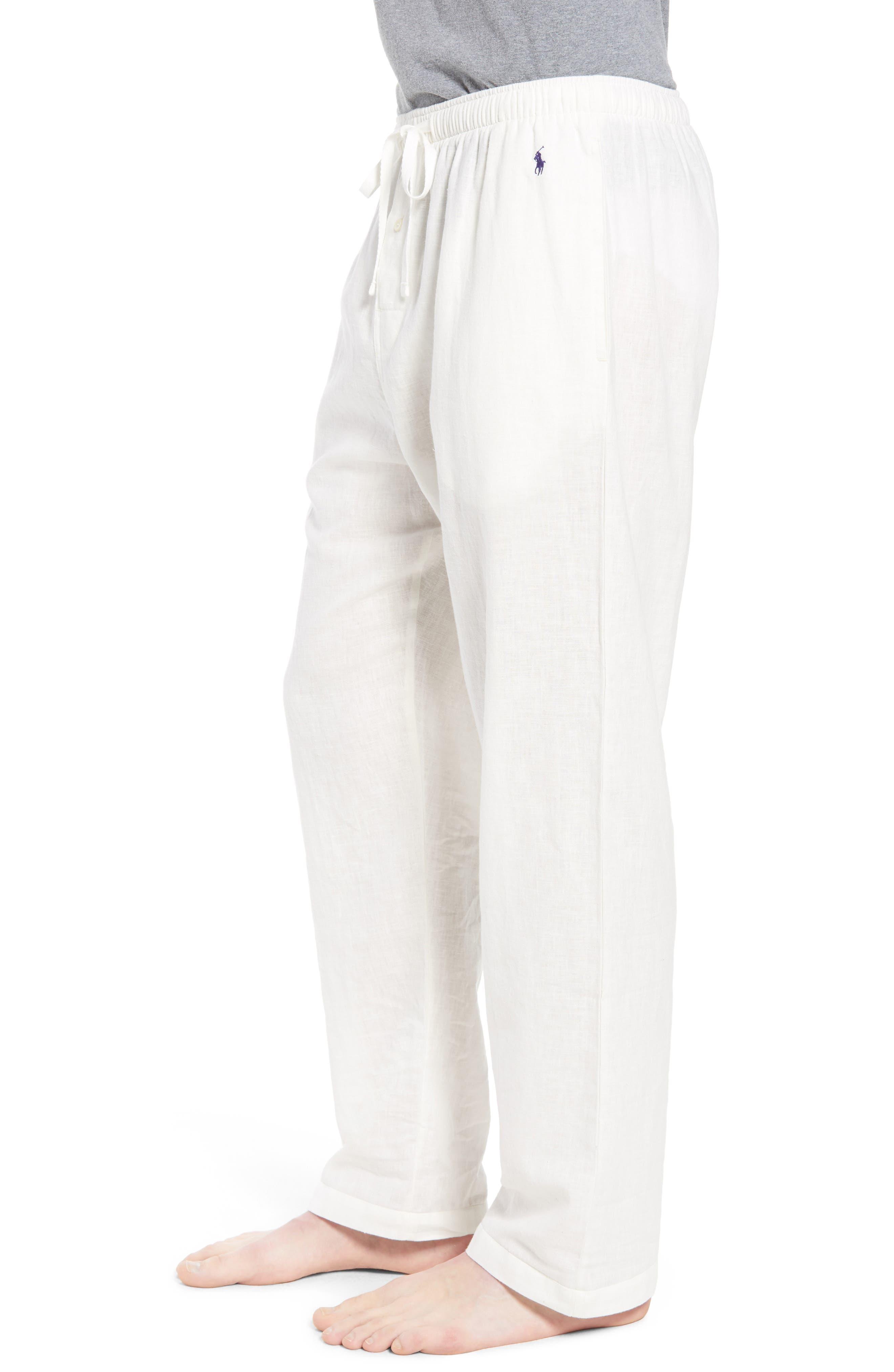 Walker Cotton & Linen Lounge Pants,                             Alternate thumbnail 3, color,                             NEVIS/ BRIGHT NAVY