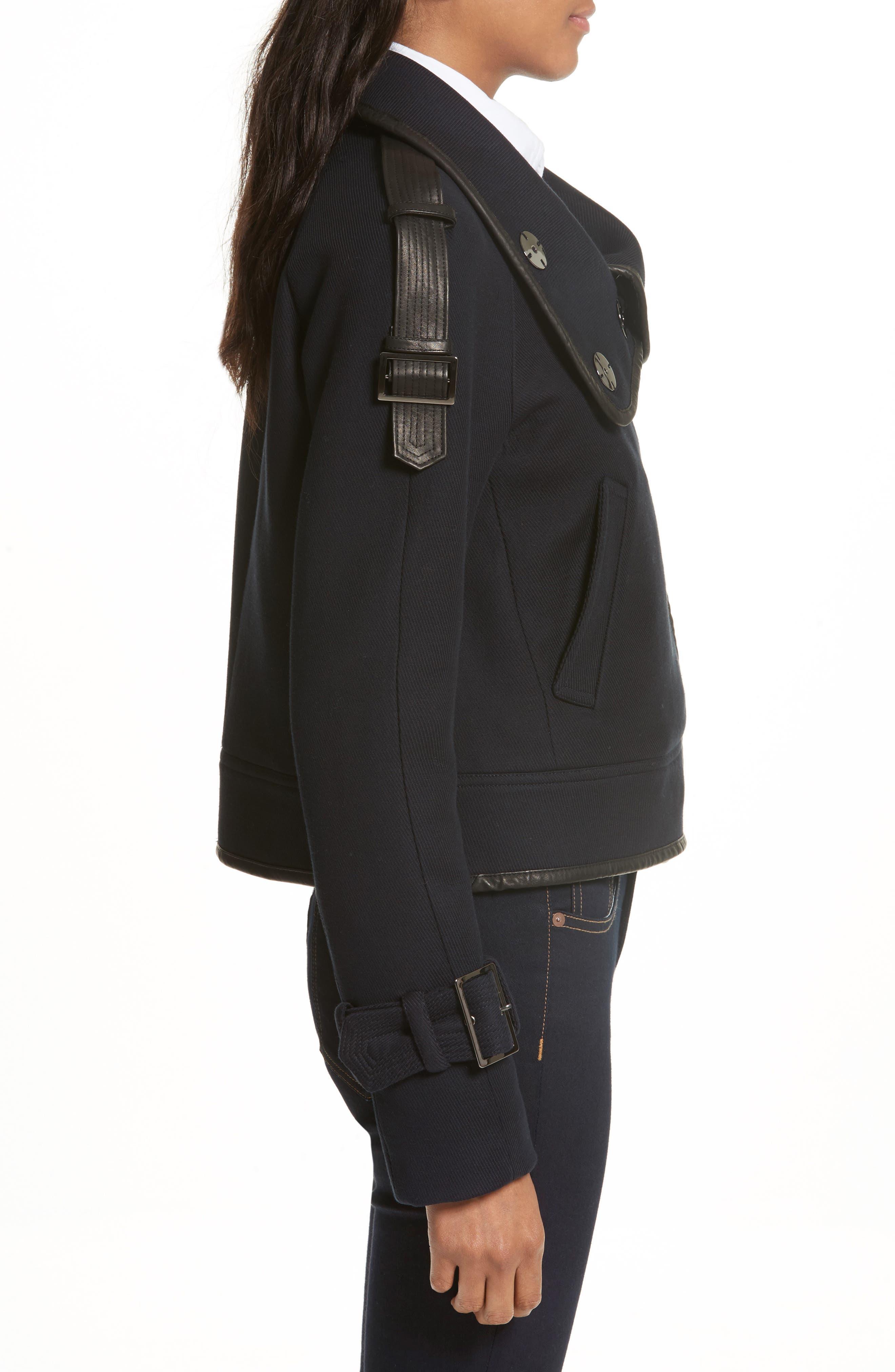 Lafayette Leather Trim Snap Jacket,                             Alternate thumbnail 3, color,                             410