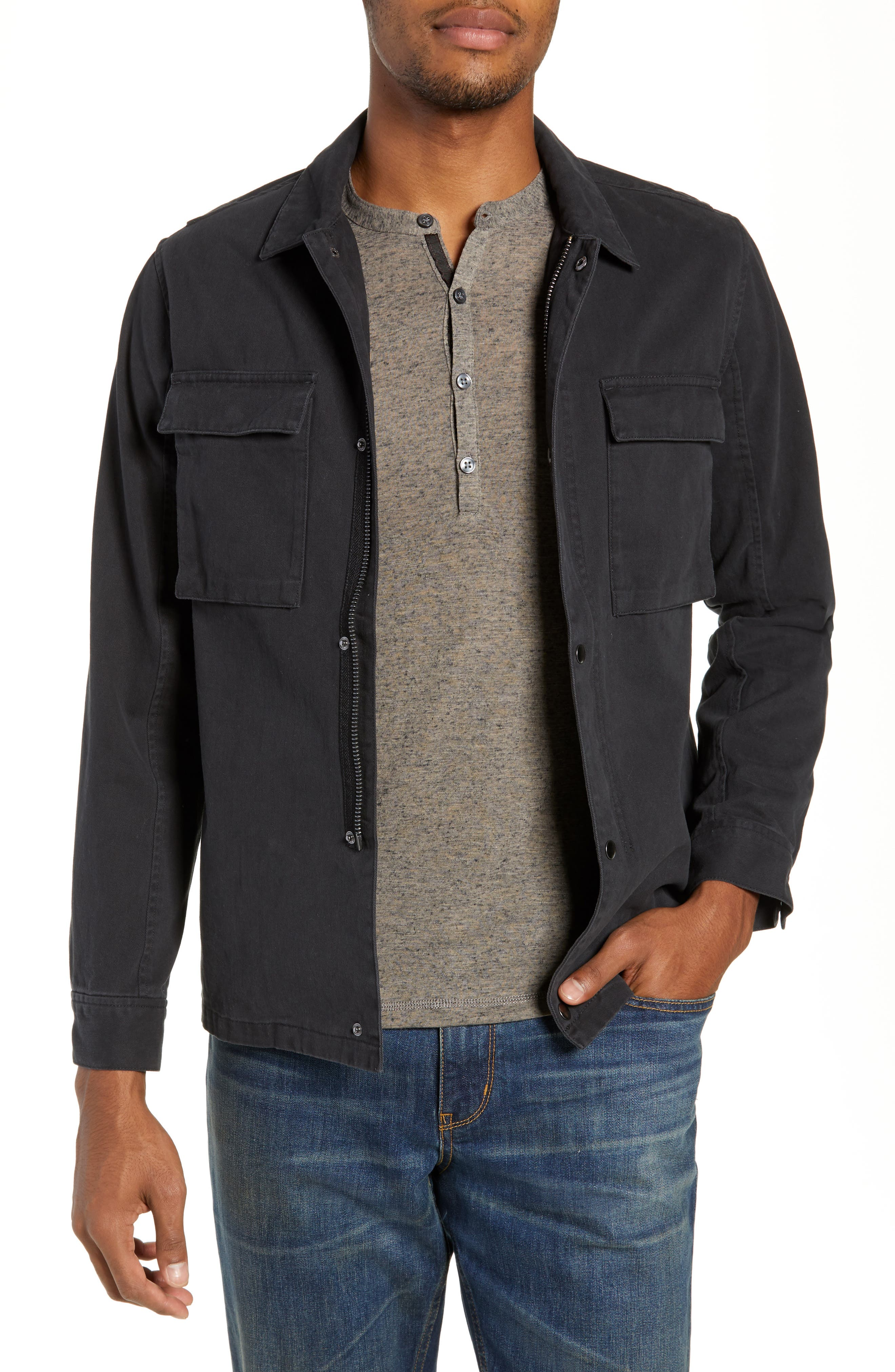 Wendall Regular Fit Jacket,                         Main,                         color, BLACK