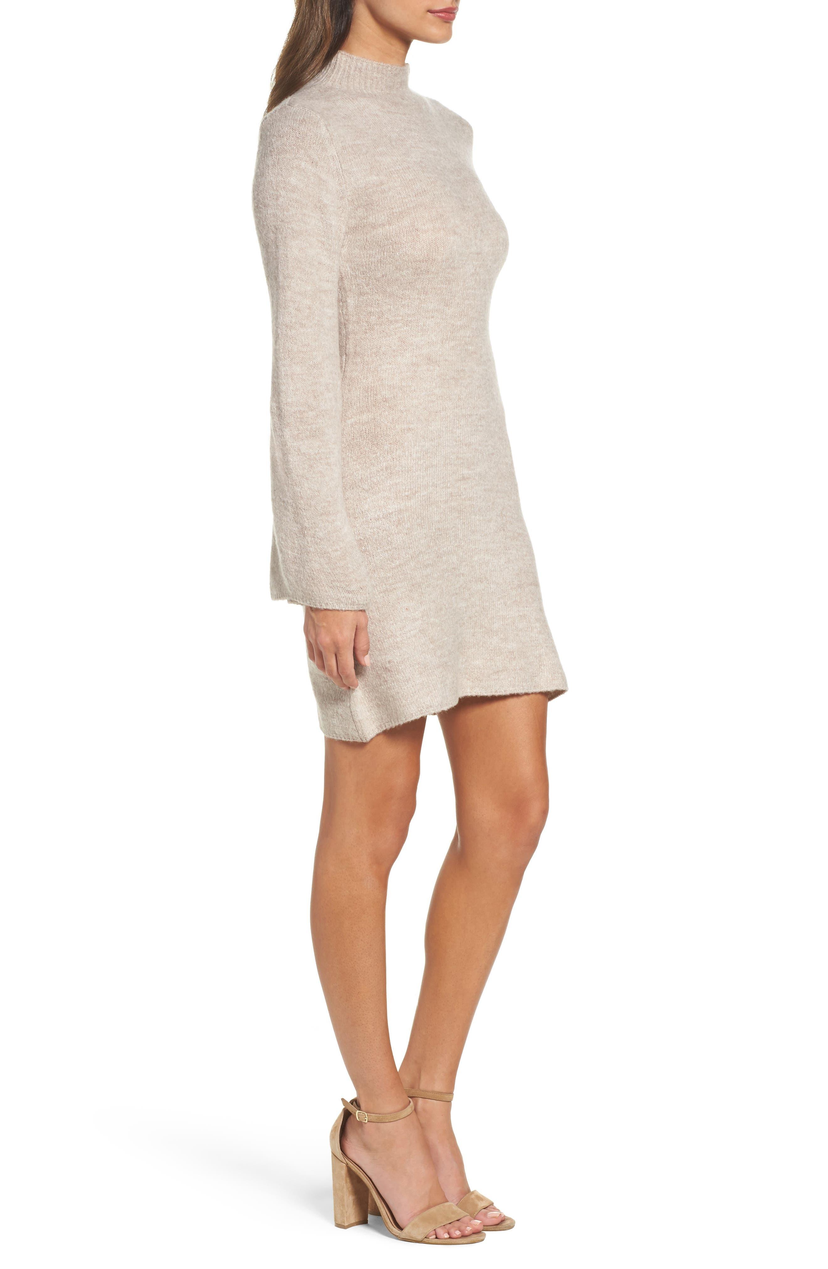 Bell Sleeve Knit Dress,                             Alternate thumbnail 6, color,