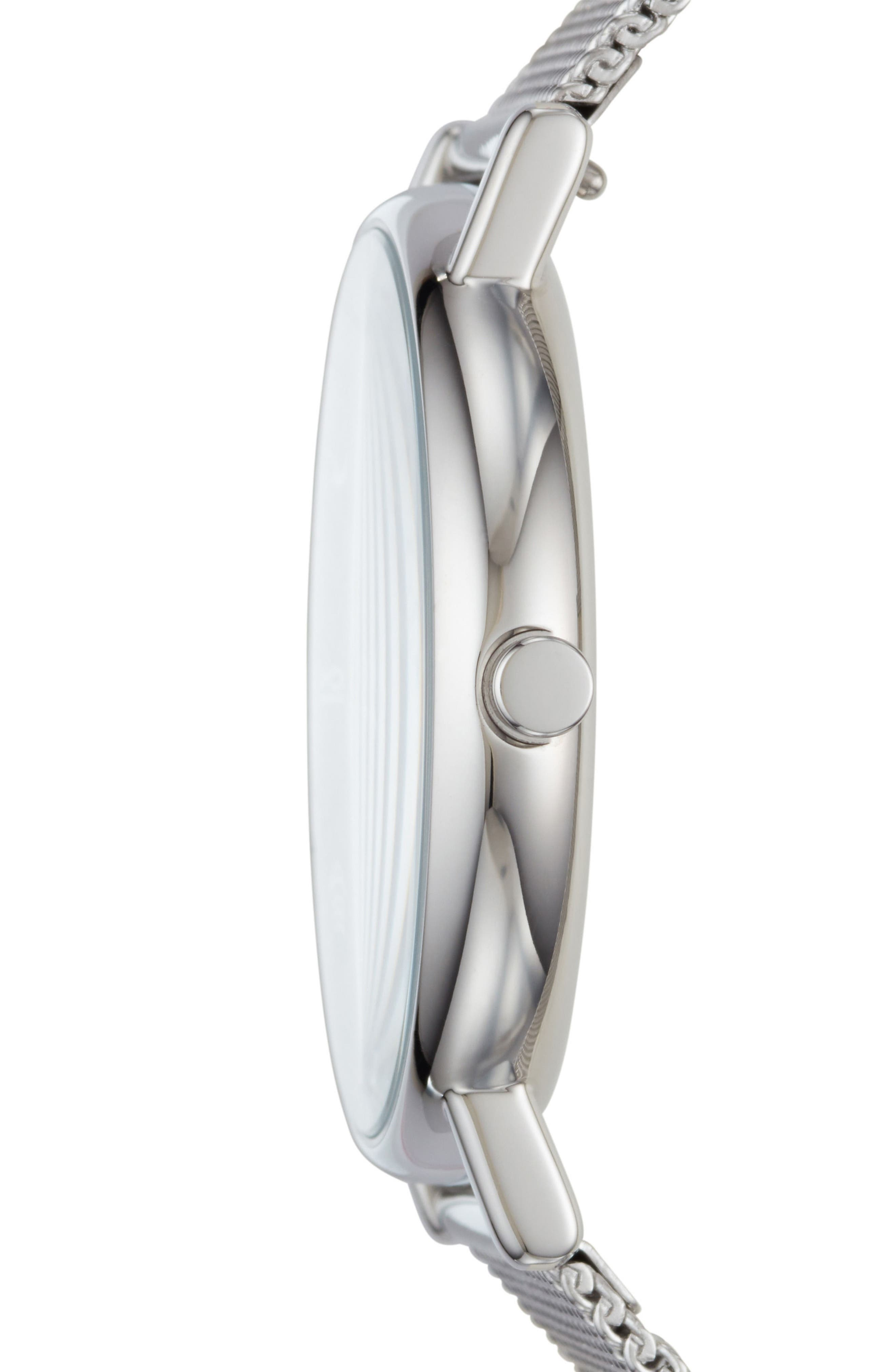 Signatur Mesh Strap Watch, 40mm,                             Alternate thumbnail 2, color,                             SILVER/ GREY/ SILVER