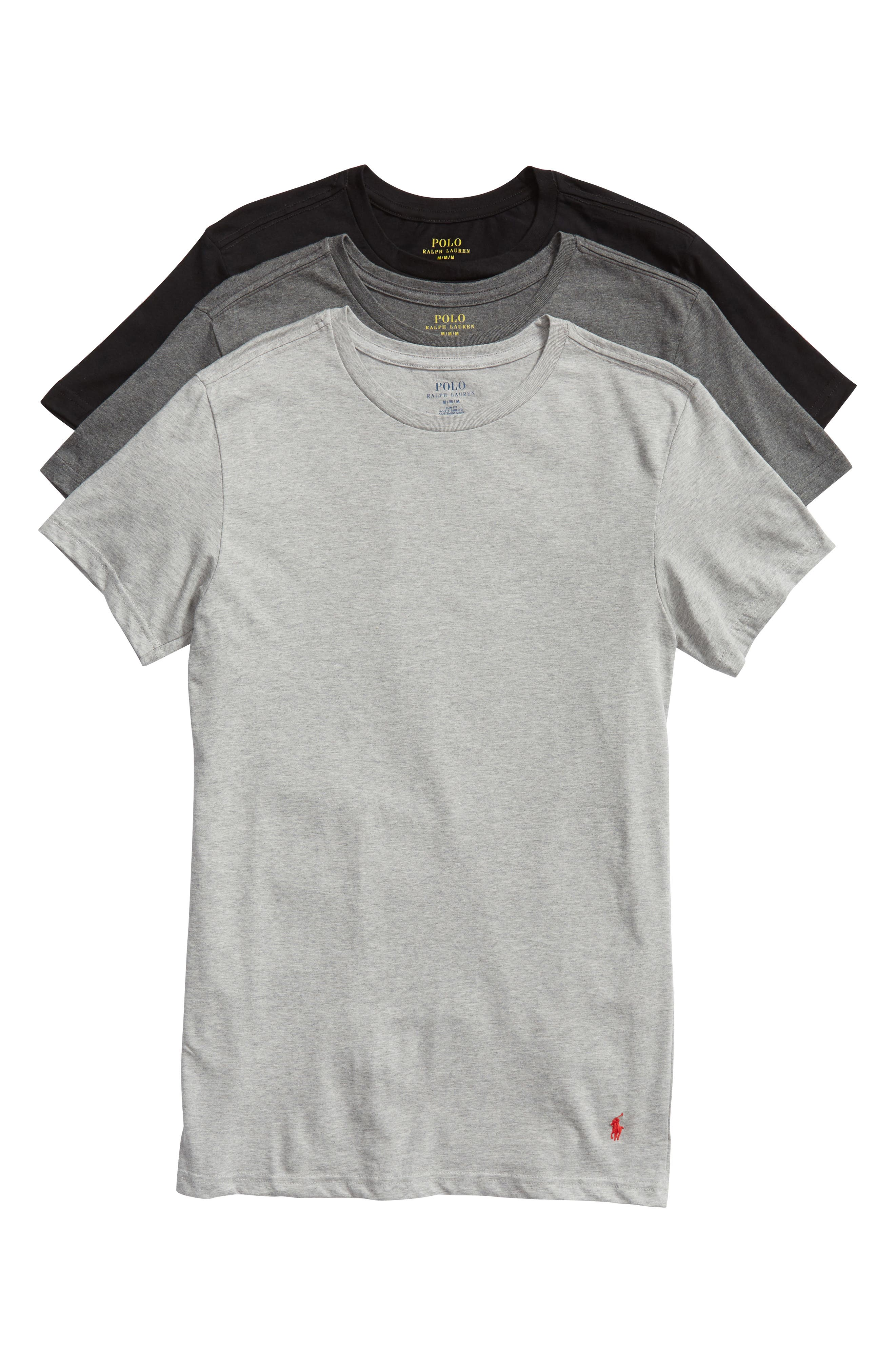 Polo Ralph Lauren 3 Pack Slim Fit Crewneck T Shirts Nordstrom