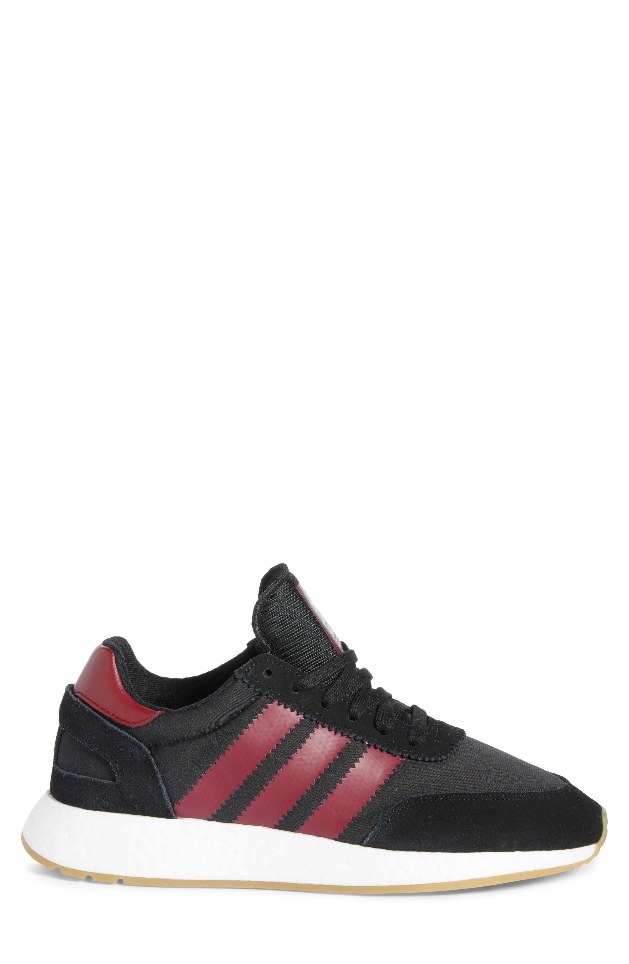I-5923 Sneaker,                             Alternate thumbnail 3, color,                             BLACK/ BURGUNDY/ WHITE