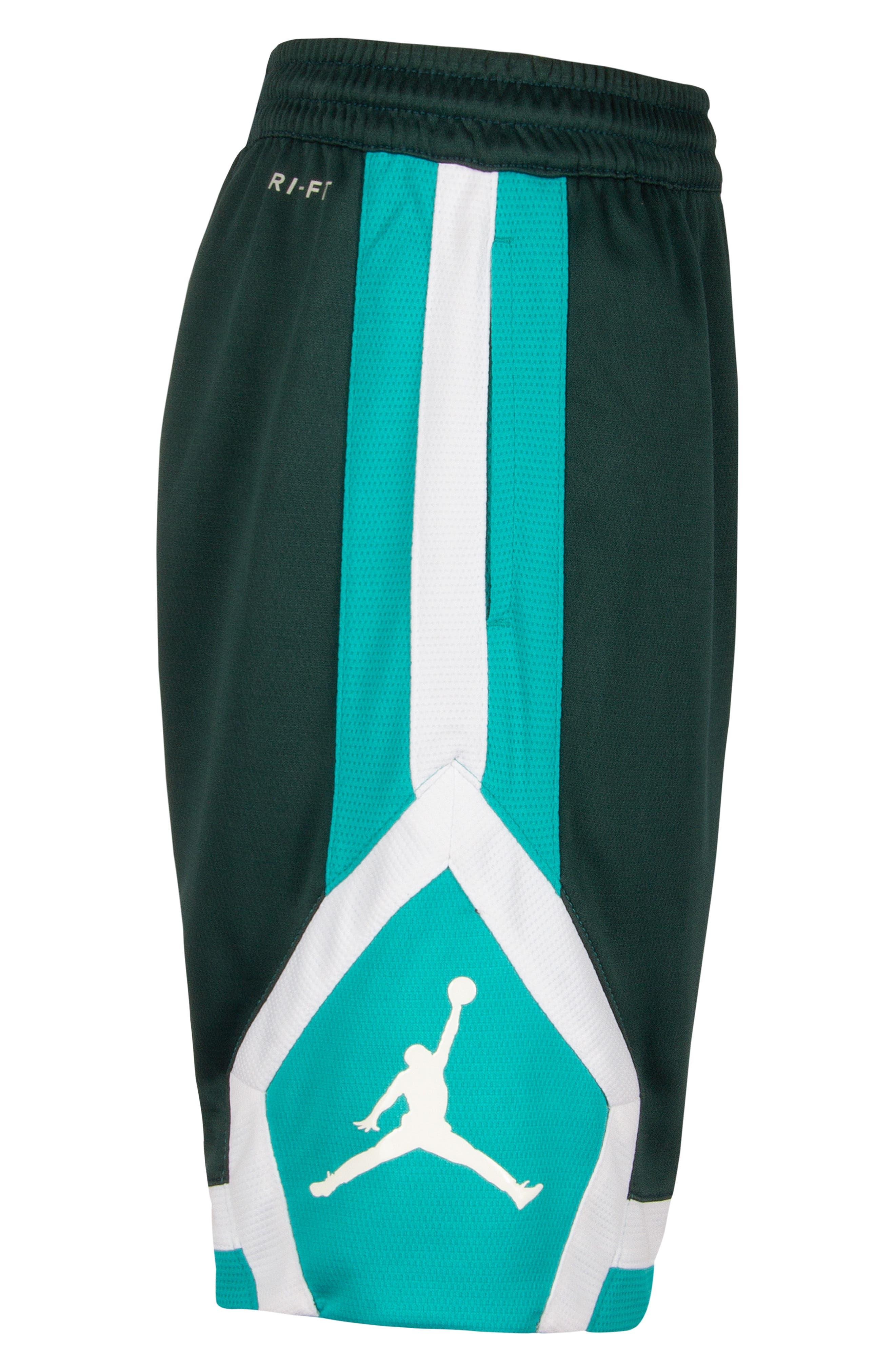 Jordan Rise Athletic Shorts,                             Alternate thumbnail 4, color,                             MIDNIGHT SPRUCE
