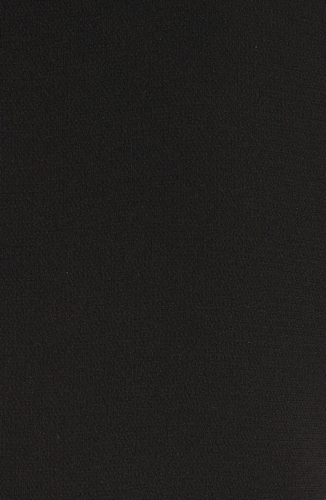 Admiral Crepe Slit Collar Sheath Dress,                             Alternate thumbnail 5, color,                             001