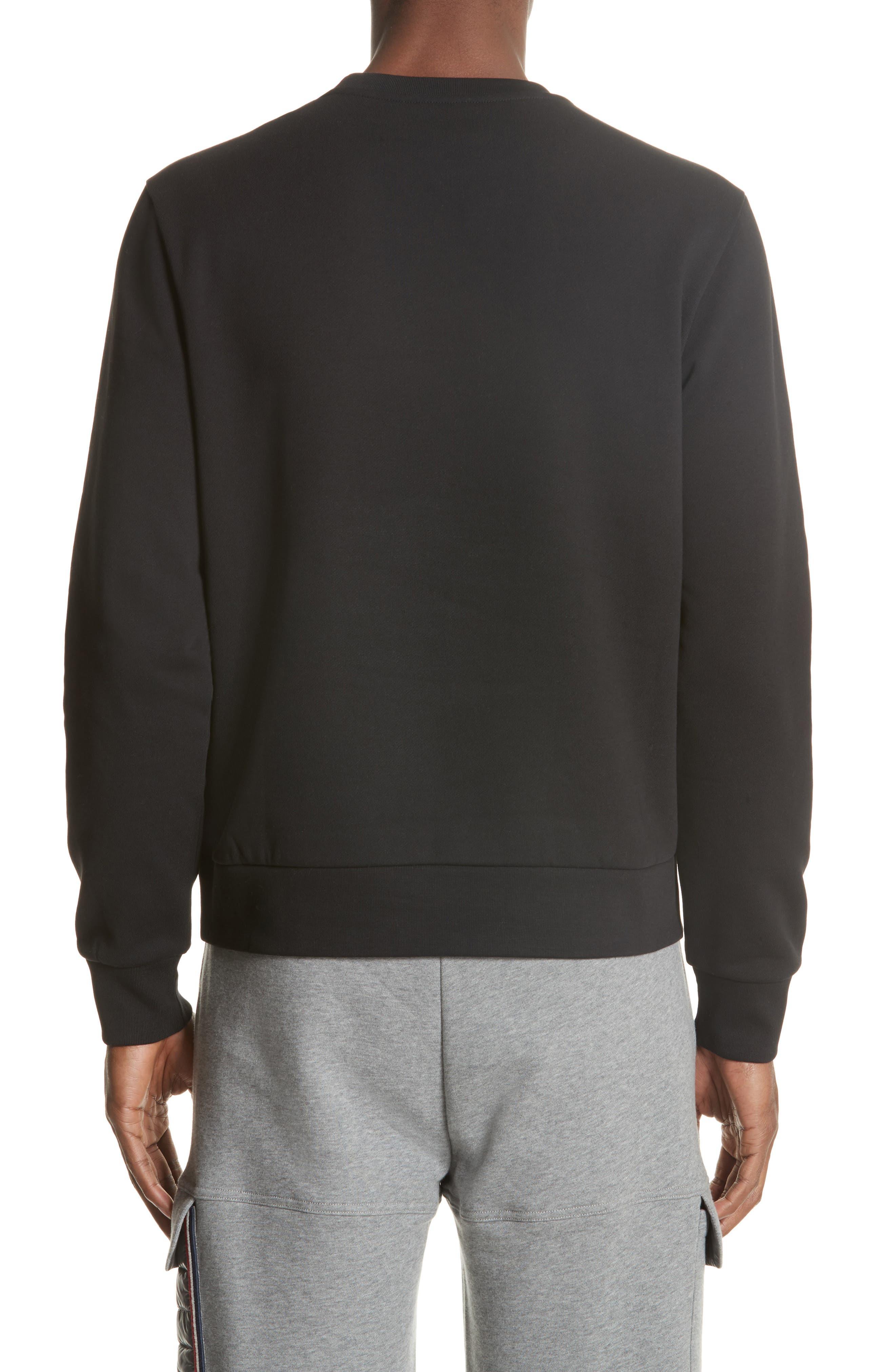 Maglia Big Bell Crewneck Sweatshirt,                             Alternate thumbnail 2, color,                             BLACK