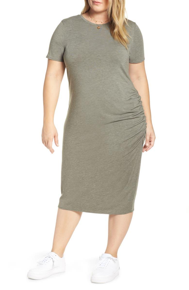 78d818b0272 Treasure   Bond Side Ruched T-Shirt Dress (Plus Size)