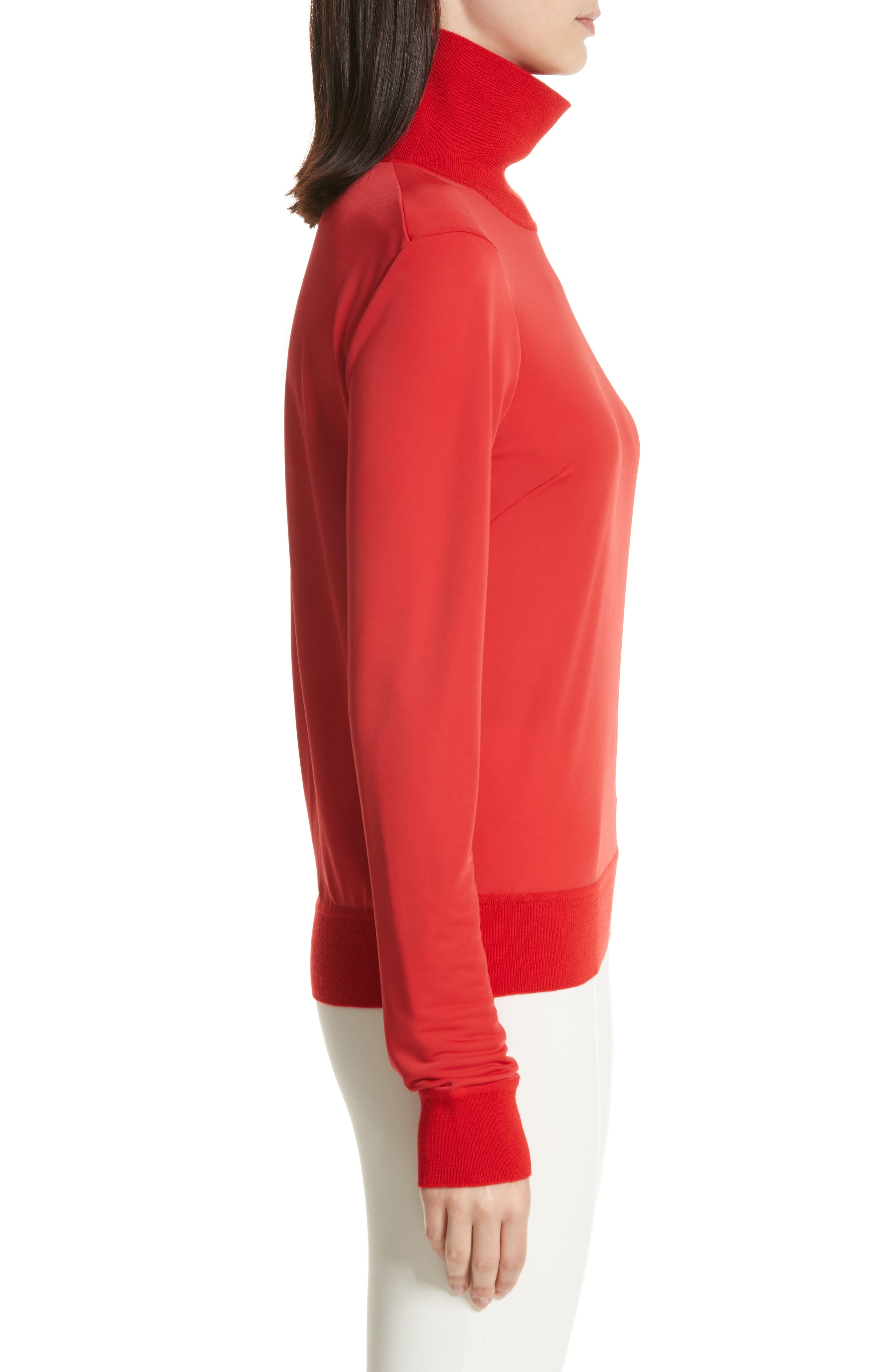 Merino Trim Turtleneck Sweater,                             Alternate thumbnail 6, color,