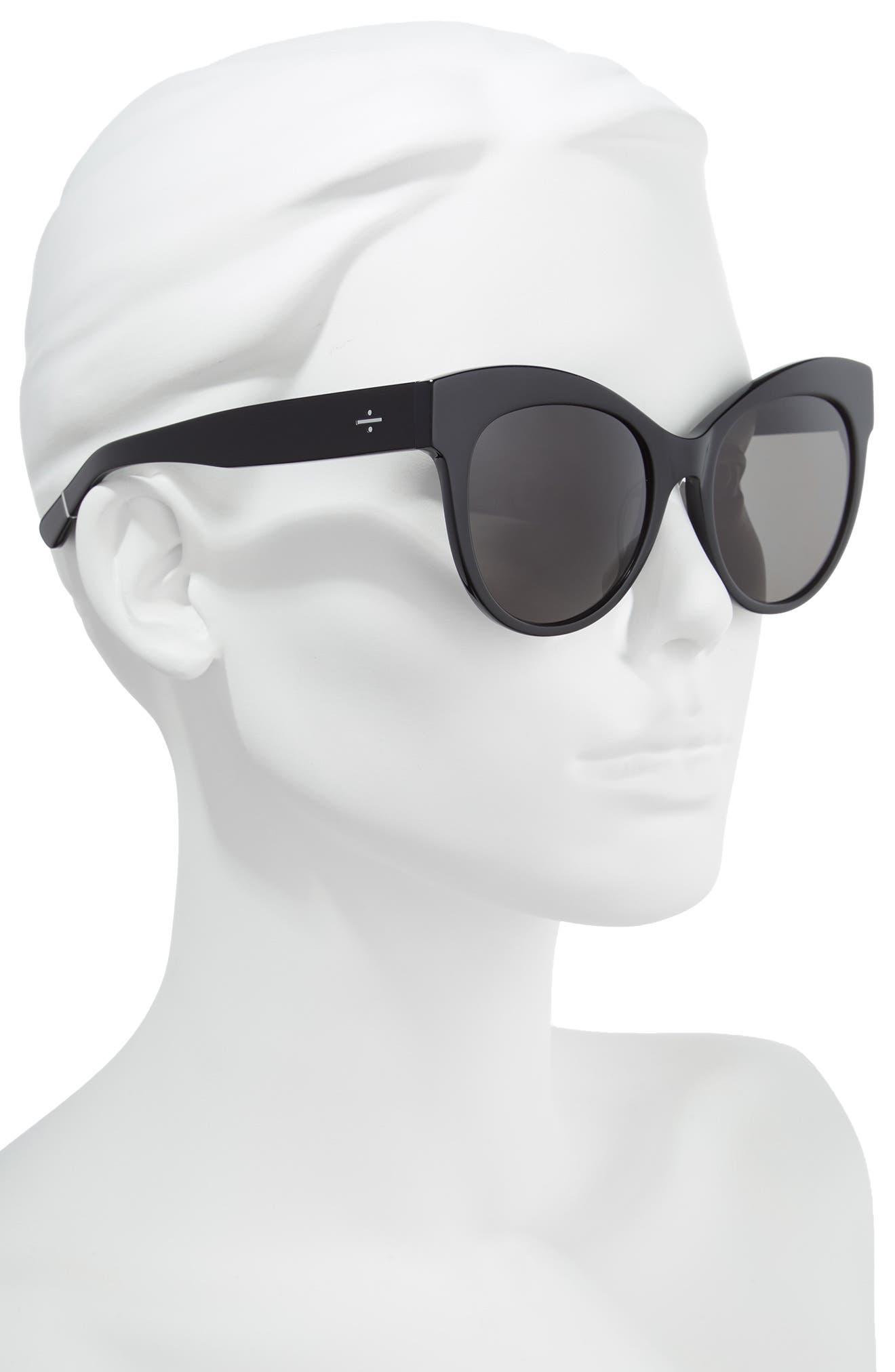 BLANC & ECLARE Paris 55mm Polarized Cat Eye Sunglasses,                             Alternate thumbnail 2, color,                             001