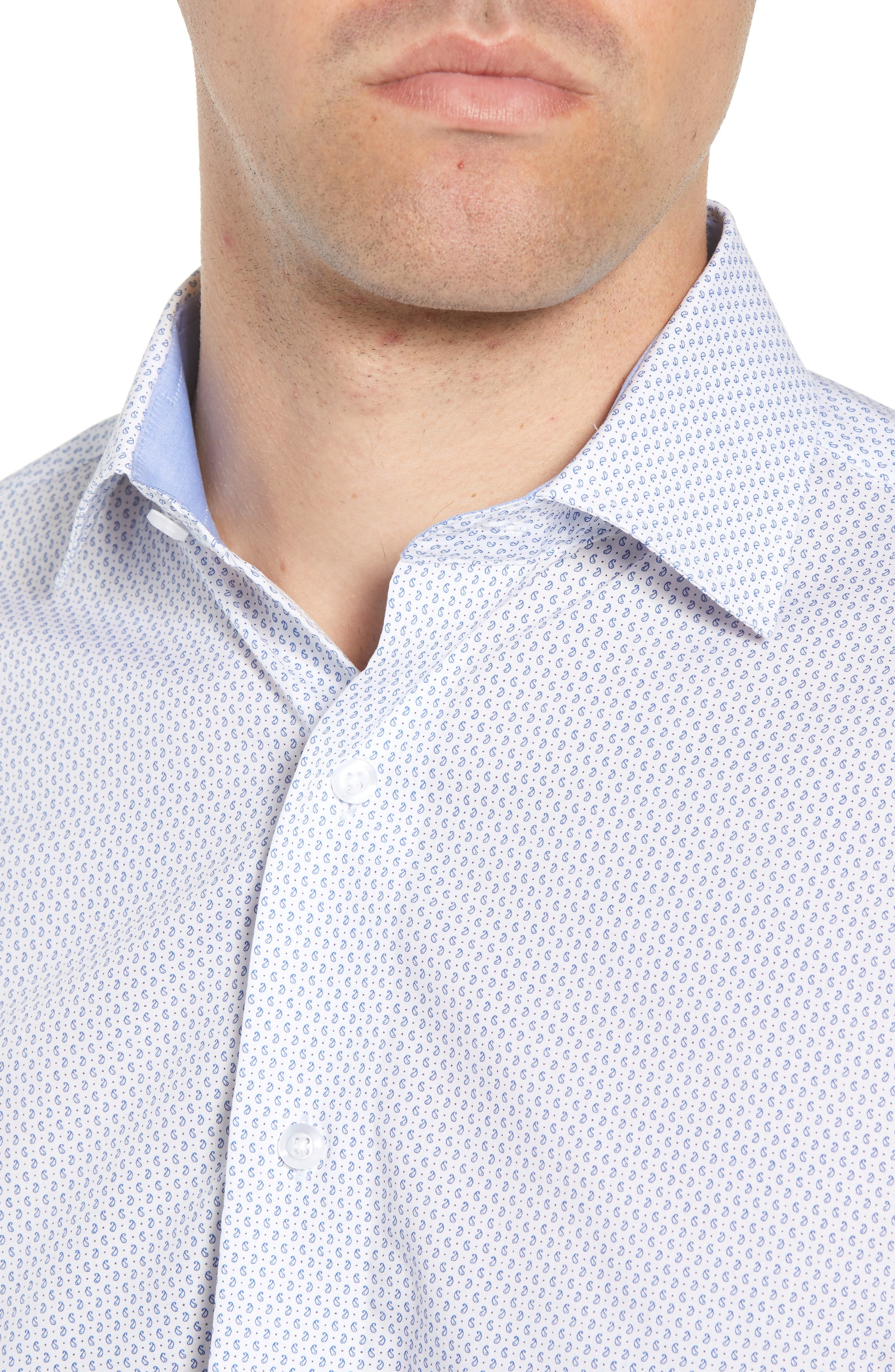 LORENZO UOMO,                             Trim Fit Paisley Dress Shirt,                             Alternate thumbnail 2, color,                             400