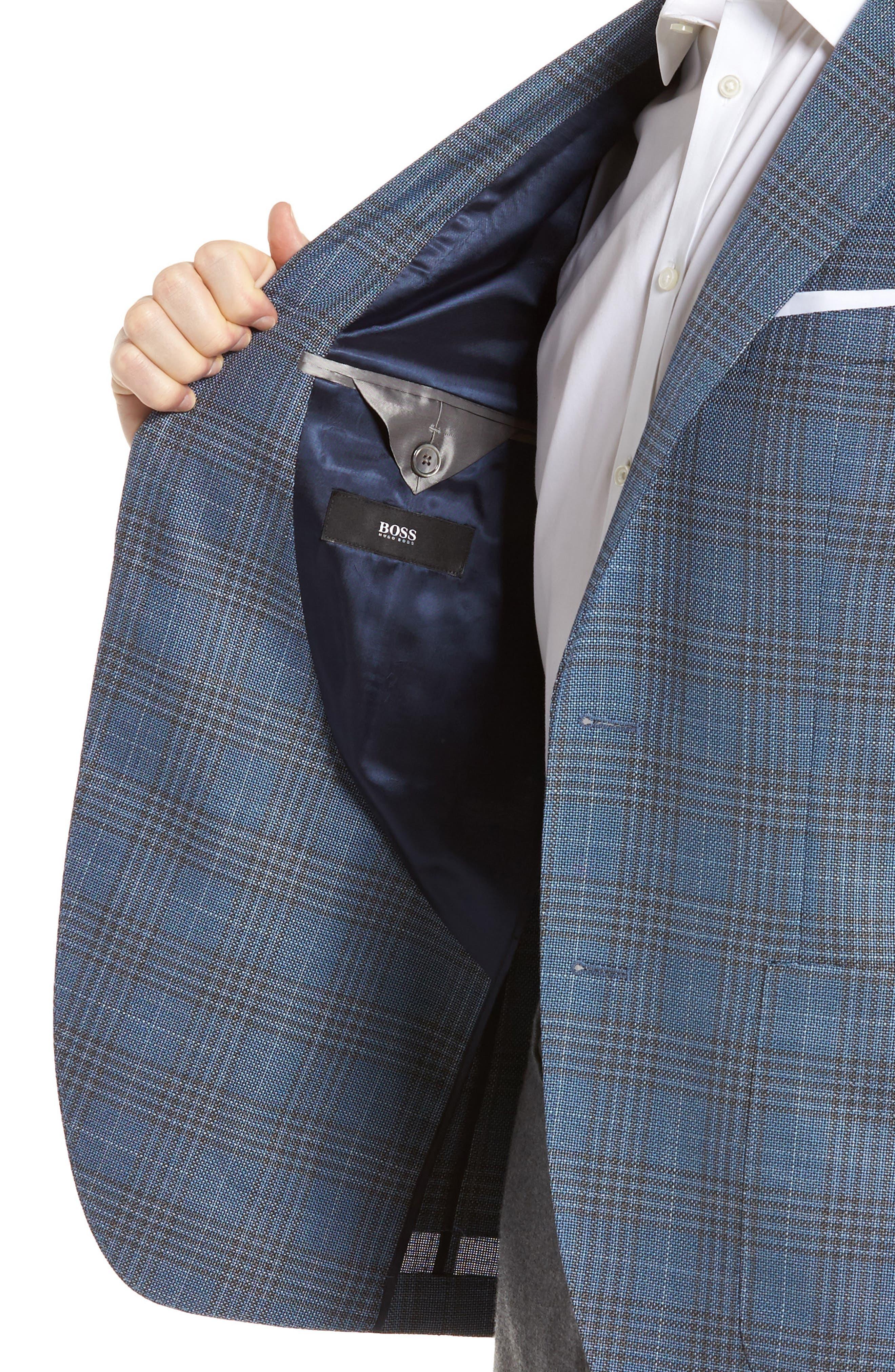 Janson Classic Fit Plaid Wool Sport Coat,                             Alternate thumbnail 4, color,                             473