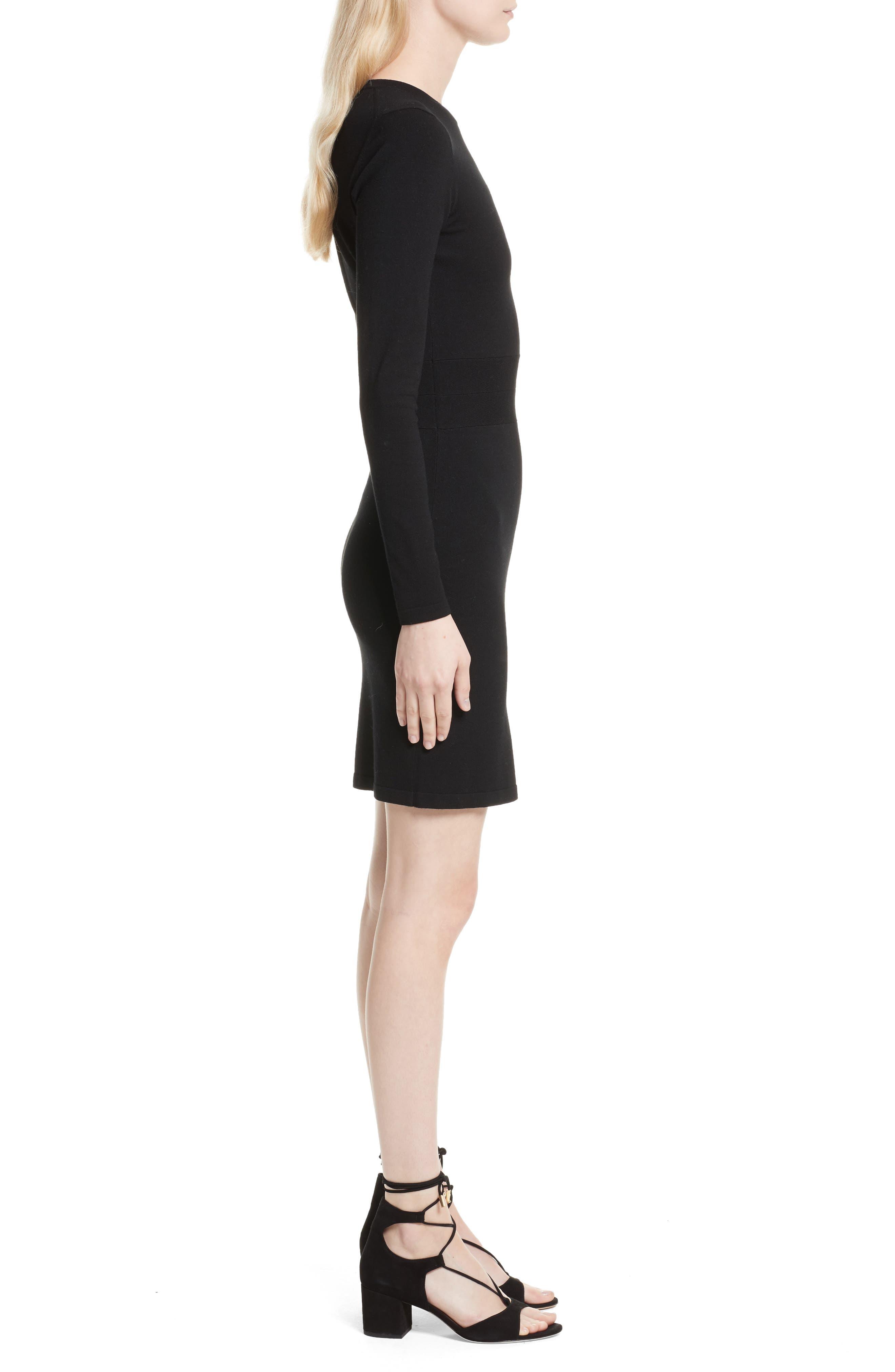 Railey Cutout Dress,                             Alternate thumbnail 3, color,                             001