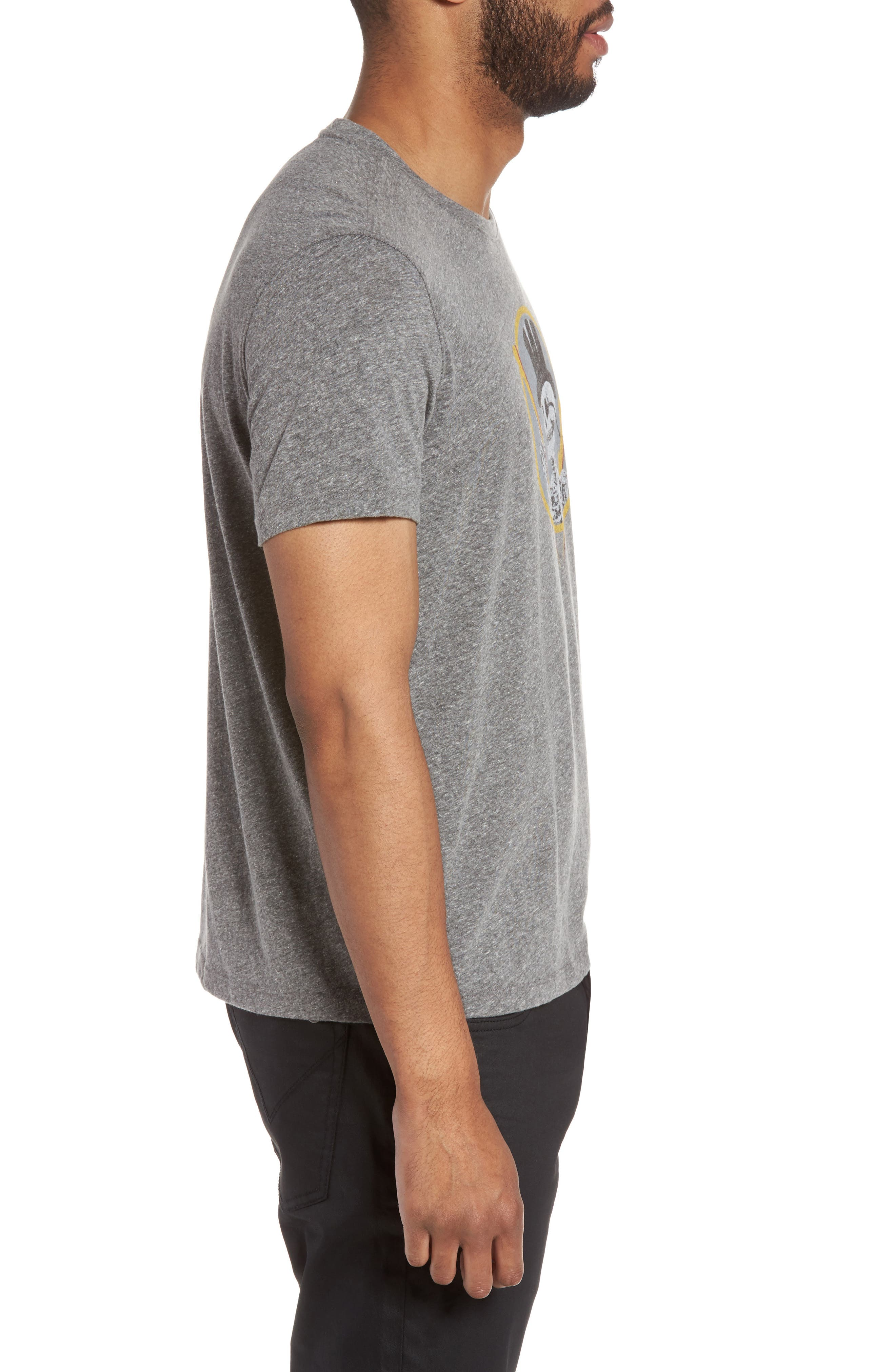 Top Hat Skull Graphic T-Shirt,                             Alternate thumbnail 3, color,                             073