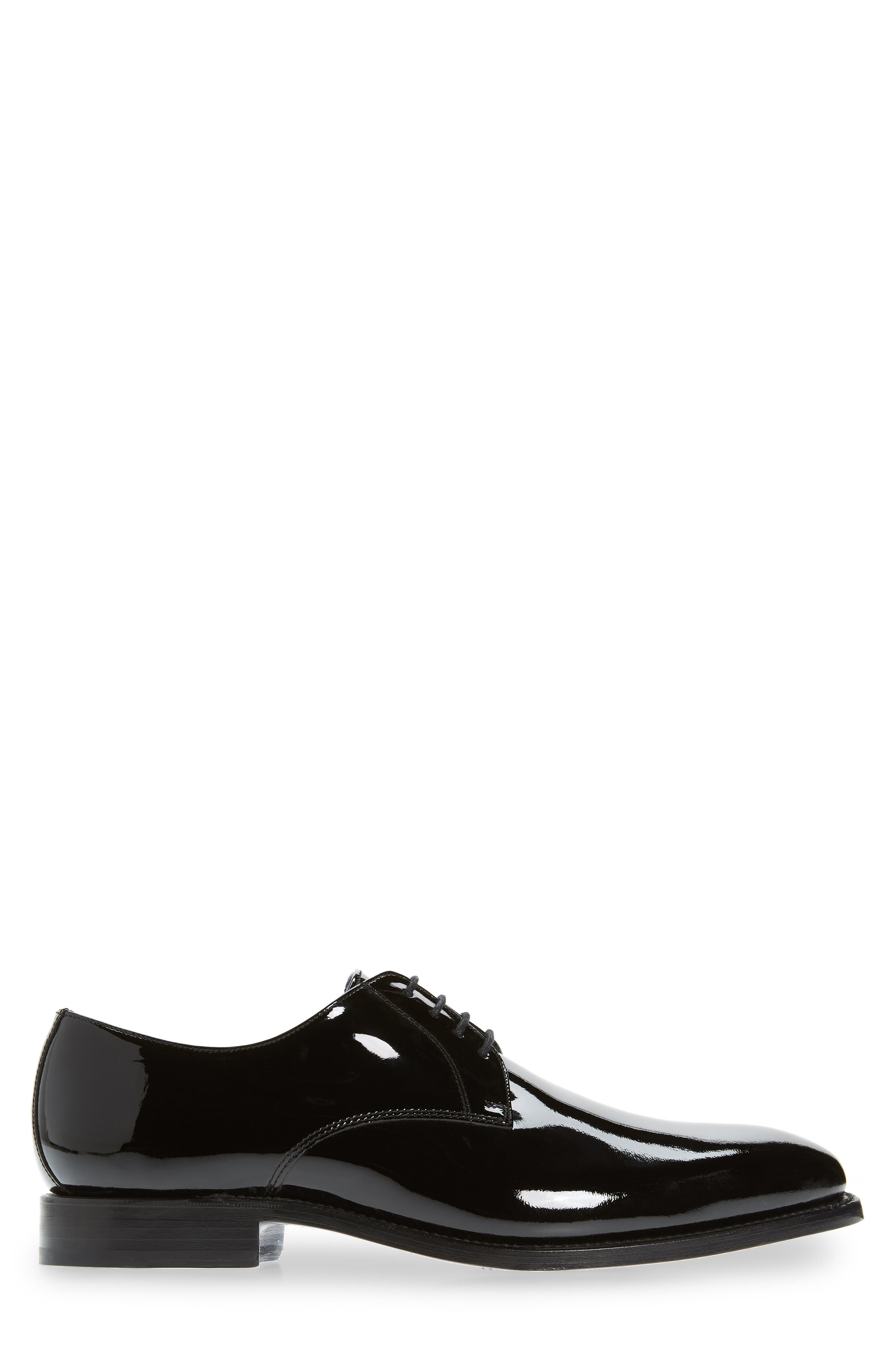 Alameda Plain Toe Derby,                             Alternate thumbnail 3, color,                             BLACK PATENT LEATHER