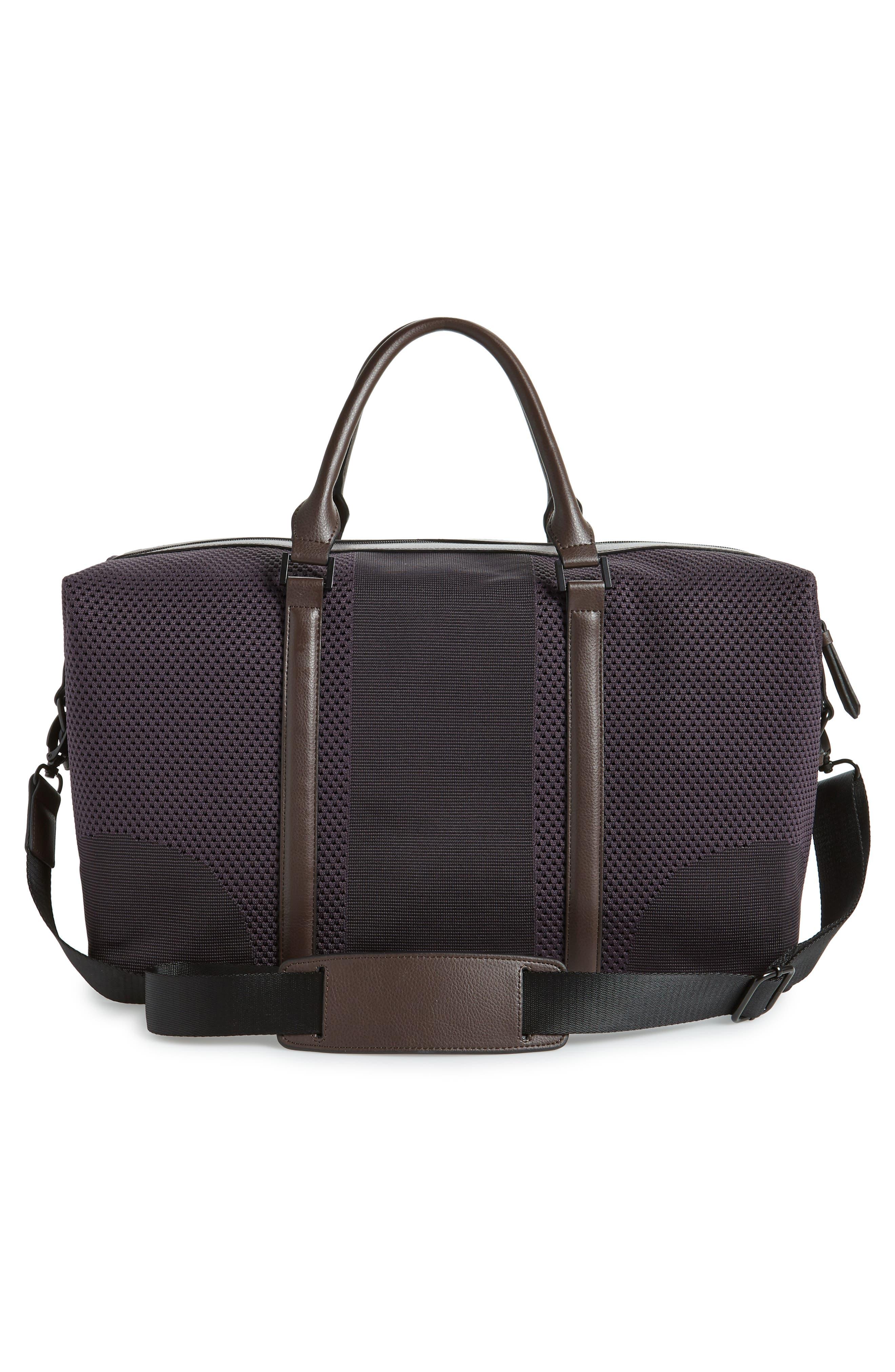 TED BAKER LONDON,                             Knit Holdall Duffel Bag,                             Alternate thumbnail 3, color,                             531