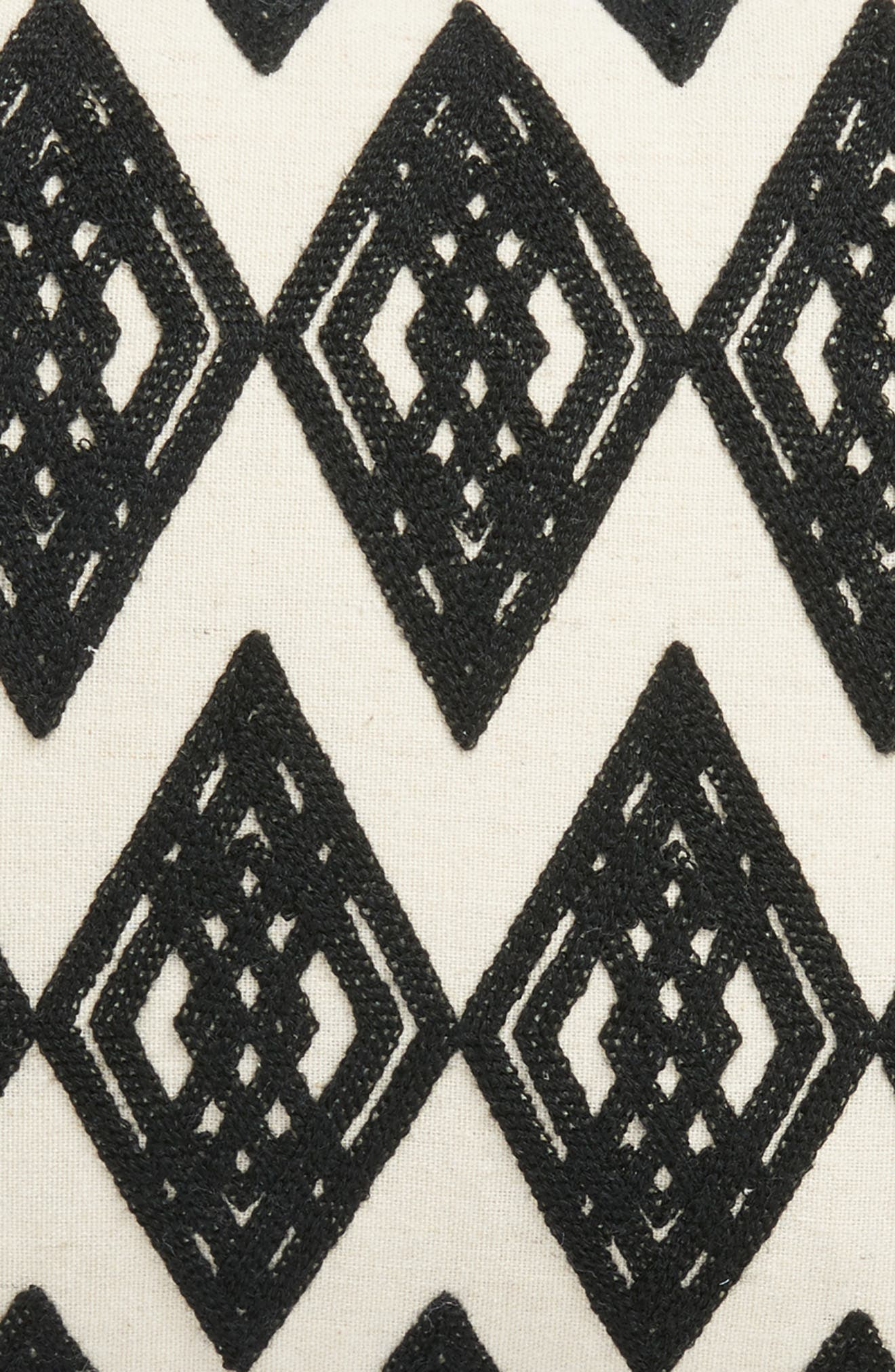 Moroccan Crewel Embroidered Pillow,                             Alternate thumbnail 3, color,                             010