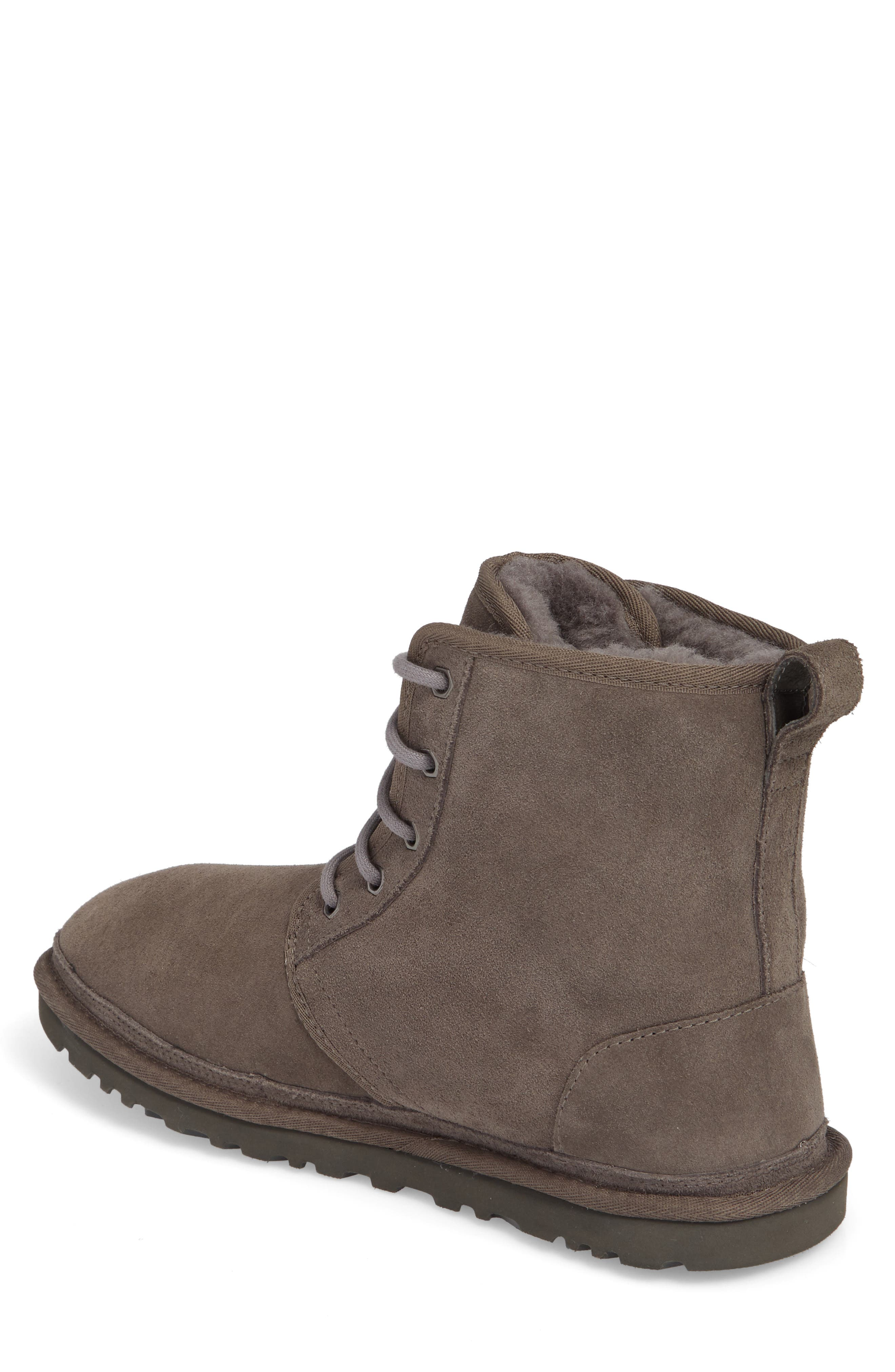 Harkley Lace-Up Boot,                             Alternate thumbnail 2, color,                             CHARCOAL SUEDE