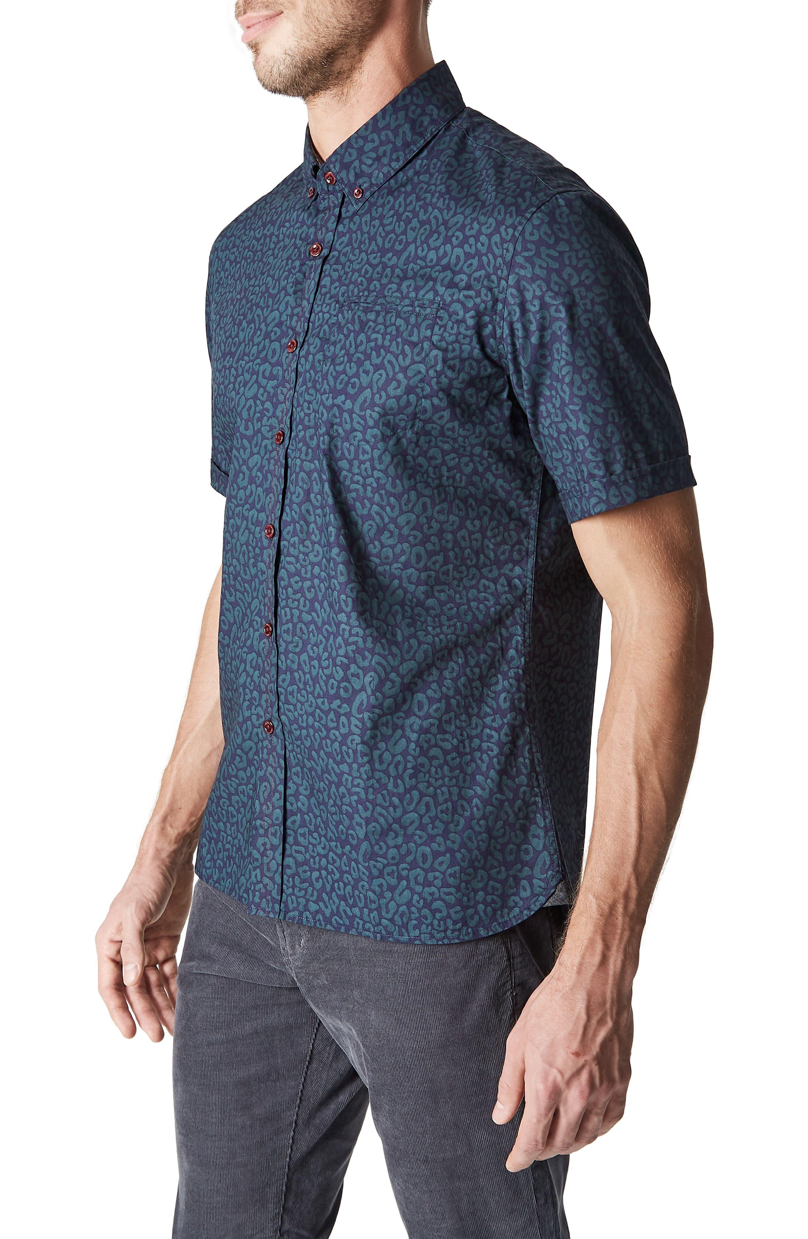 Radio Active Woven Shirt,                             Alternate thumbnail 3, color,                             400