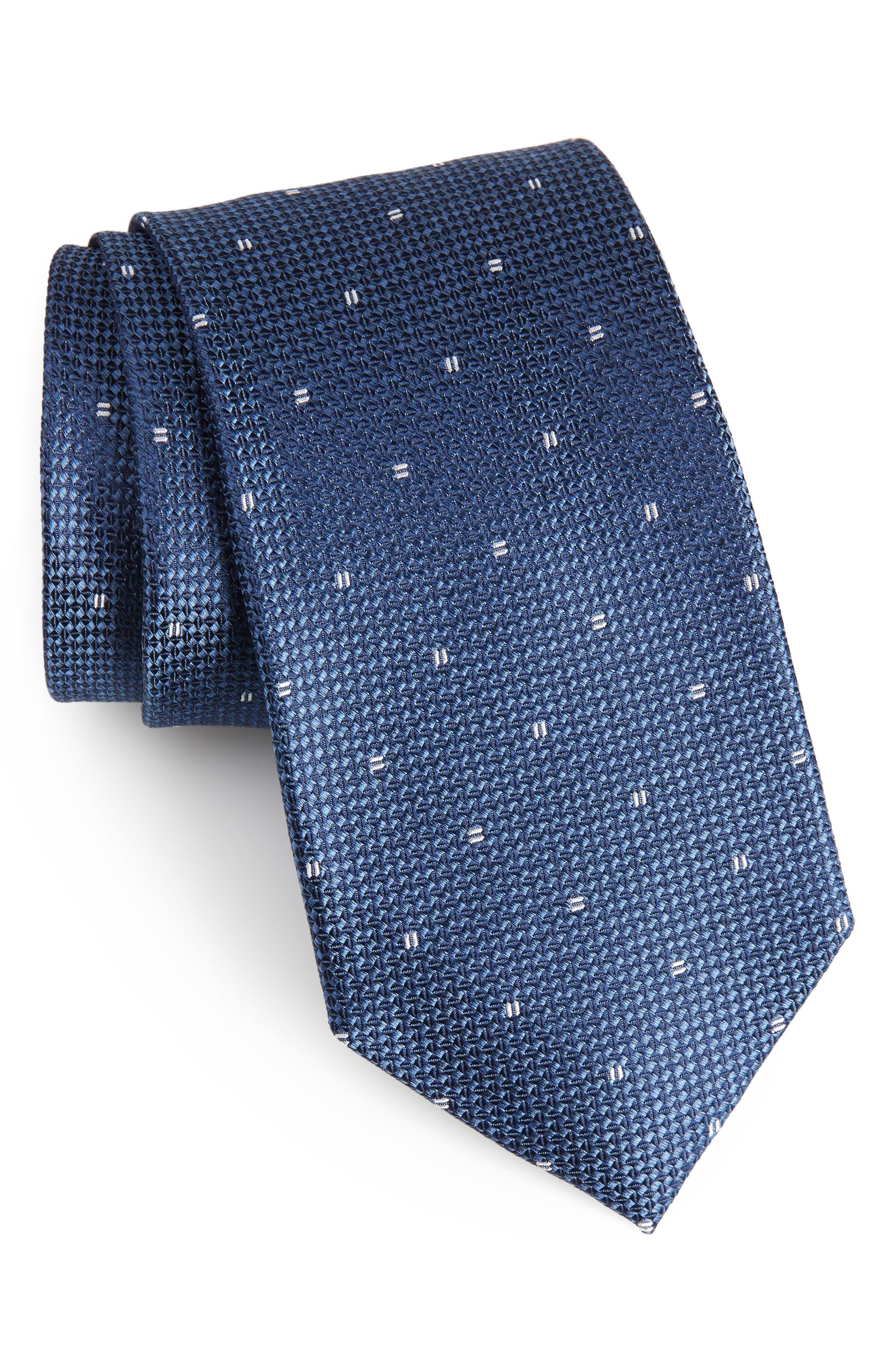Mulroy Neat Silk Tie,                             Main thumbnail 4, color,