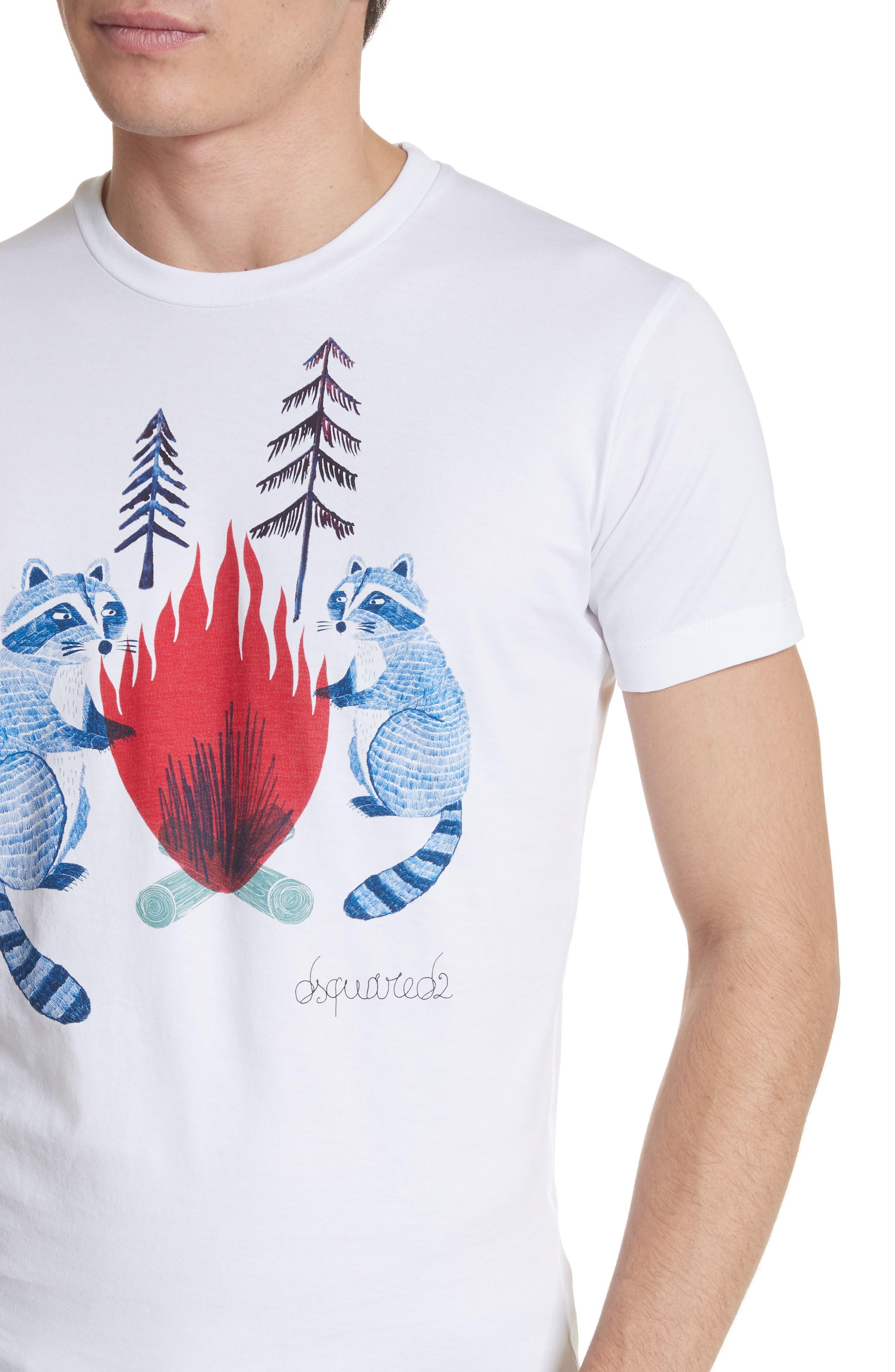 Raccoon Graphic T-Shirt,                             Alternate thumbnail 4, color,                             101