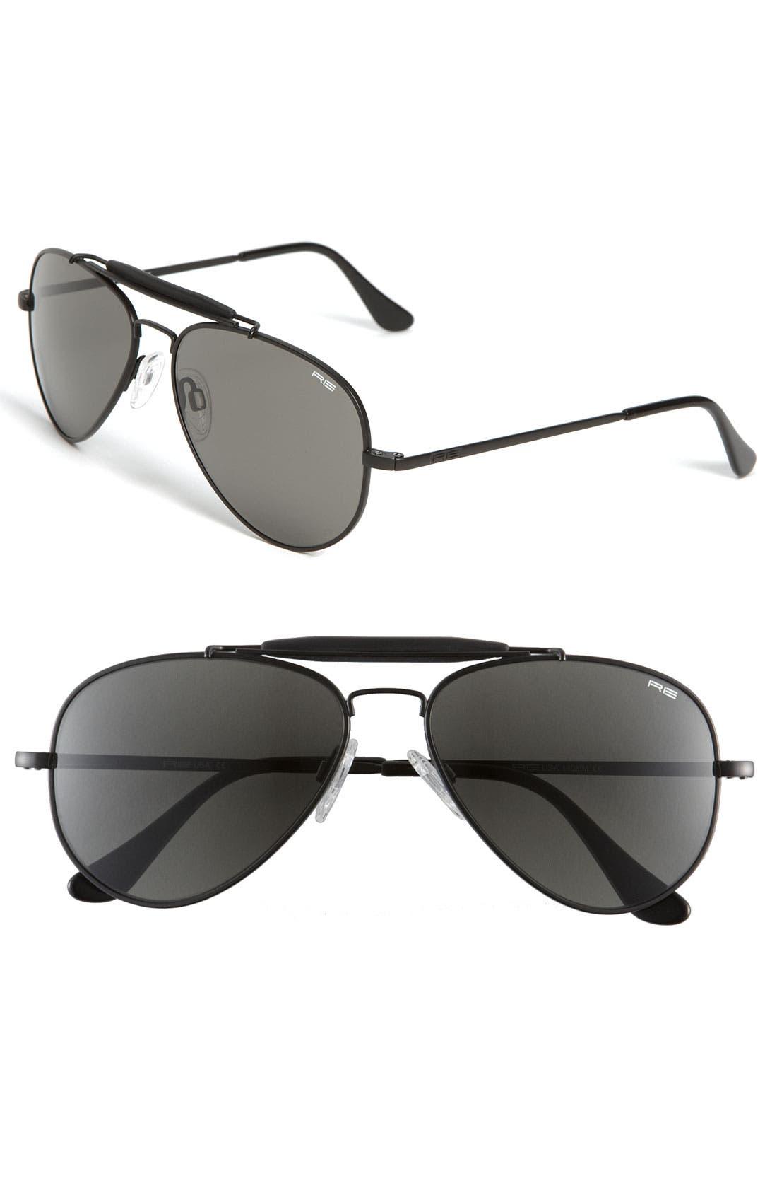 'Sportsman' 57mm Sunglasses,                             Main thumbnail 1, color,                             001