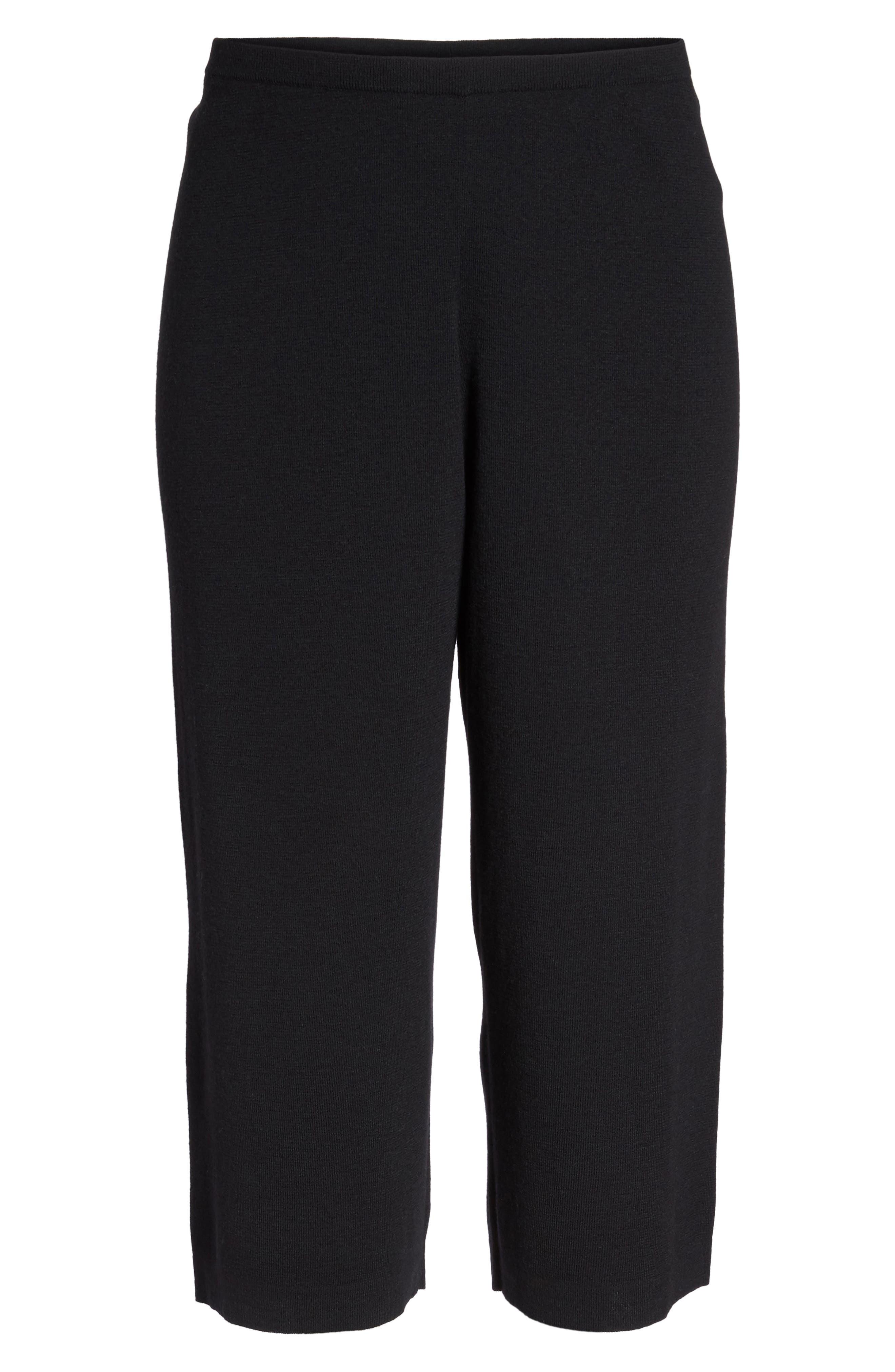 Wide Leg Crop Wool Pants,                             Alternate thumbnail 11, color,