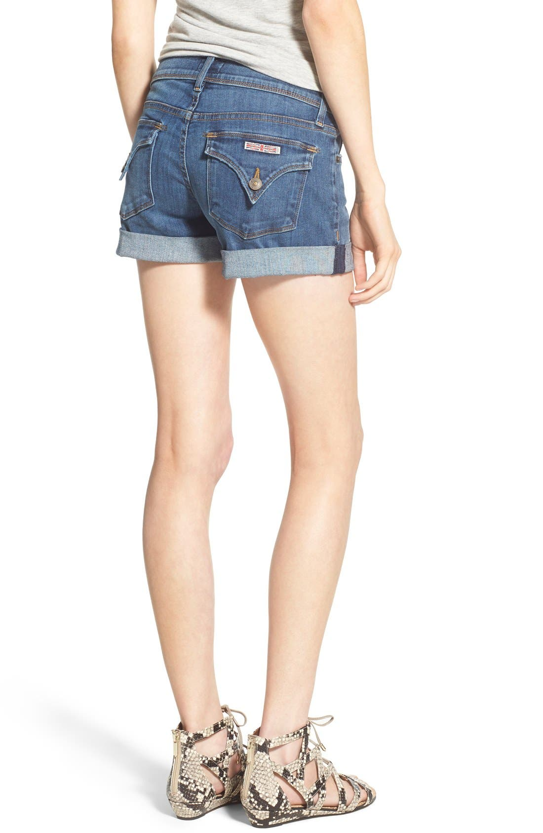 'Croxley' Cuffed Denim Shorts,                             Alternate thumbnail 15, color,