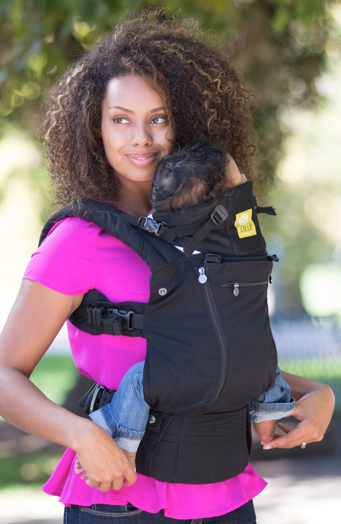 'Complete - All Seasons' Baby Carrier,                             Alternate thumbnail 4, color,                             BLACK