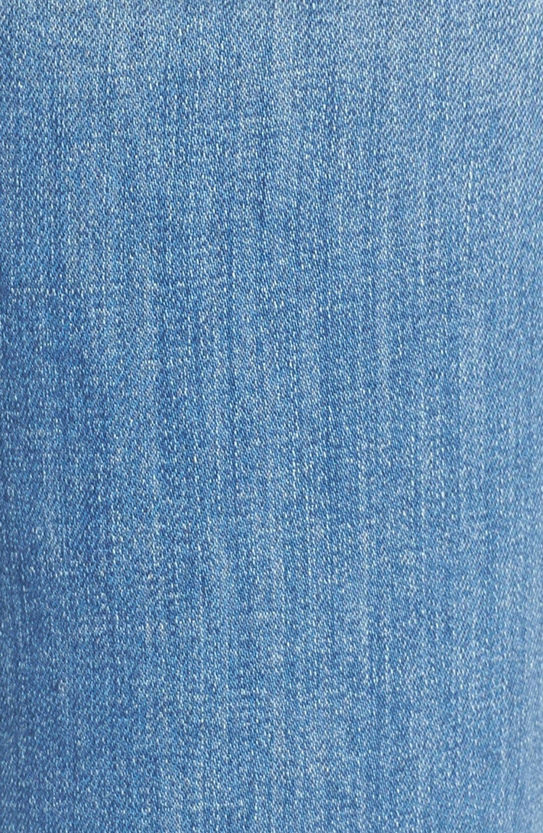 'The Insider' Crop Step Fray Jeans,                             Alternate thumbnail 5, color,                             SHAKE WELL