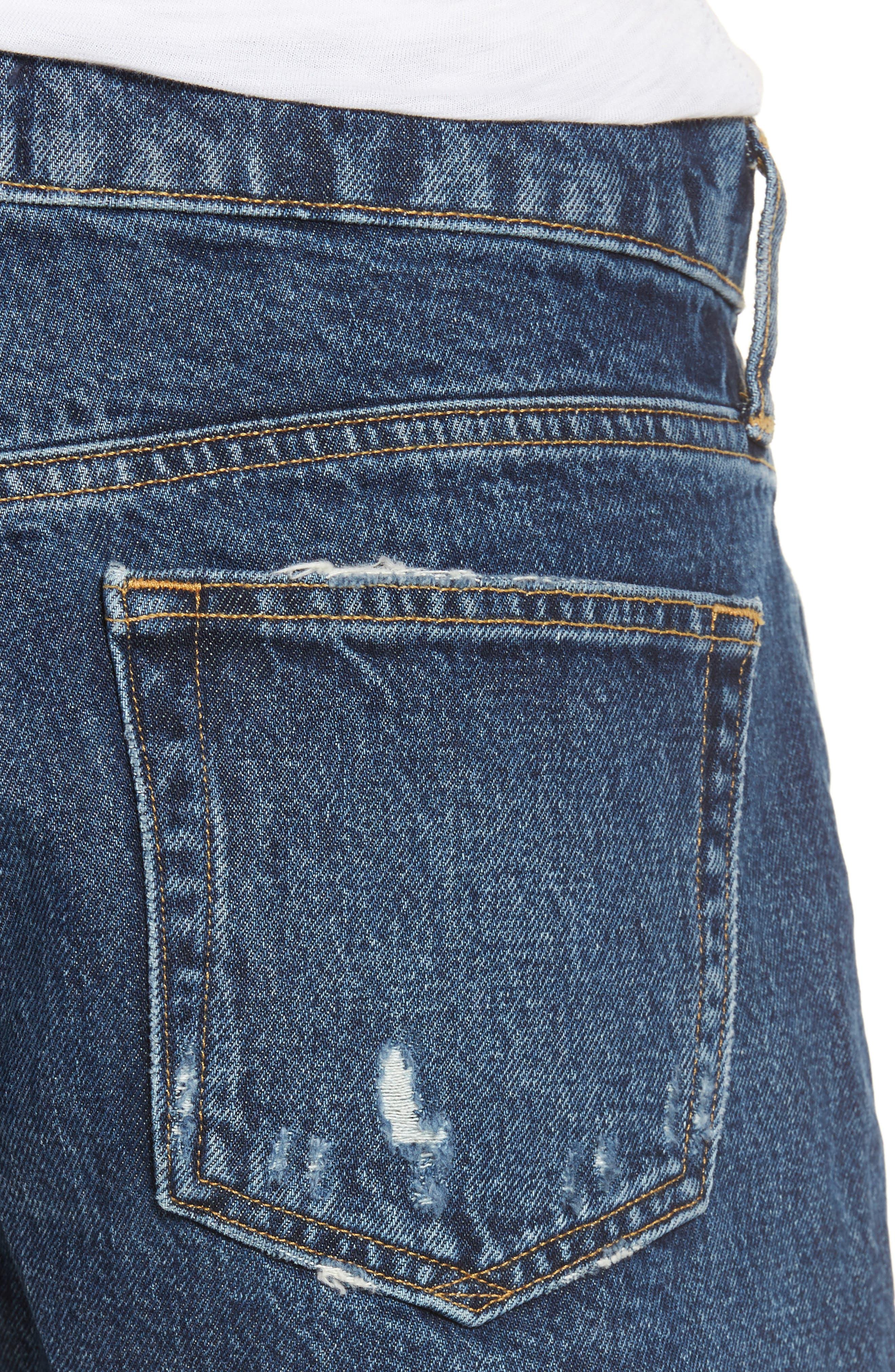 Parker Distressed Denim Shorts,                             Alternate thumbnail 4, color,                             474