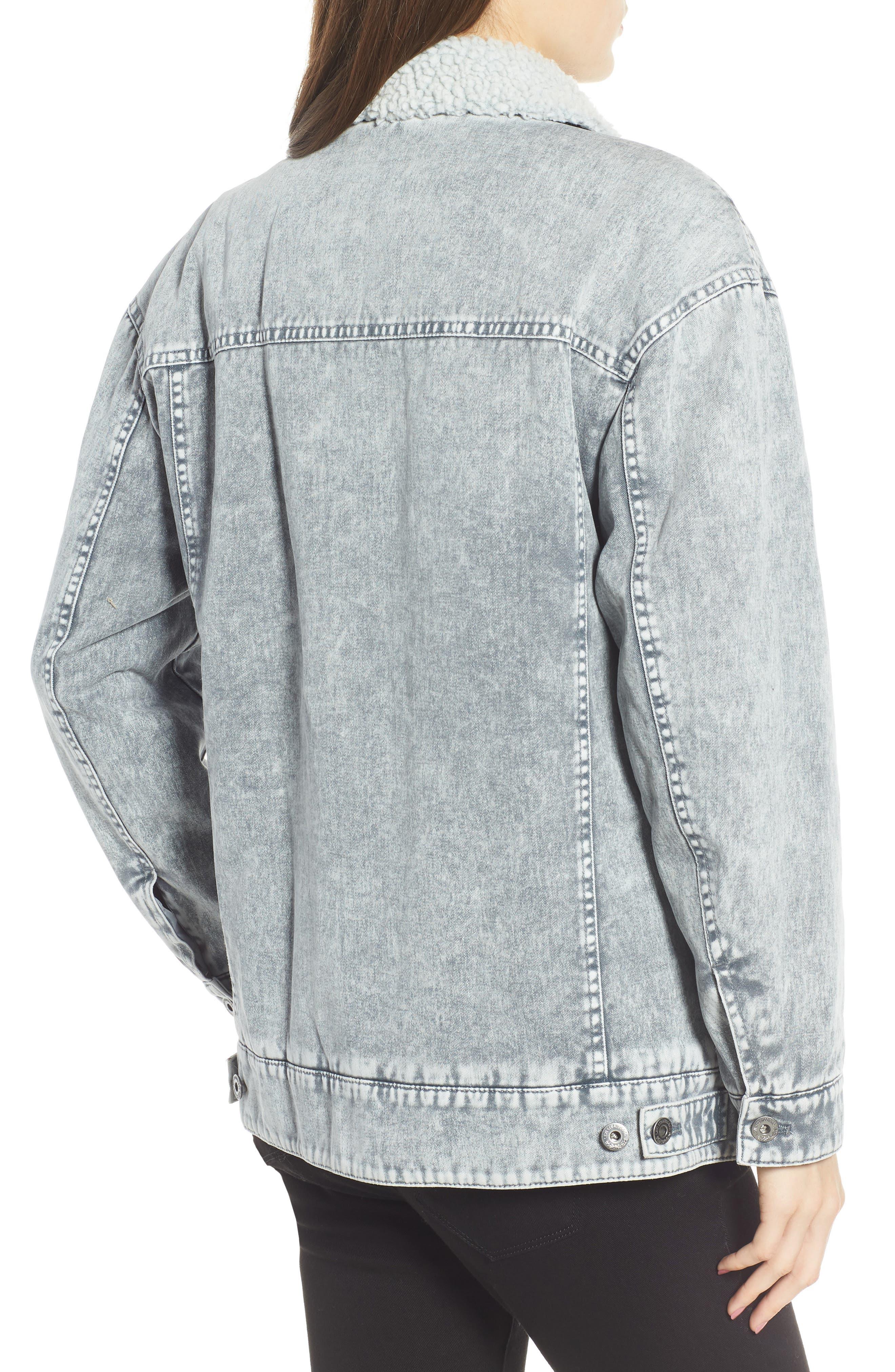 Levi's<sup>®</sup> Oversize Denim Trucker Jacket,                             Alternate thumbnail 2, color,                             GREY