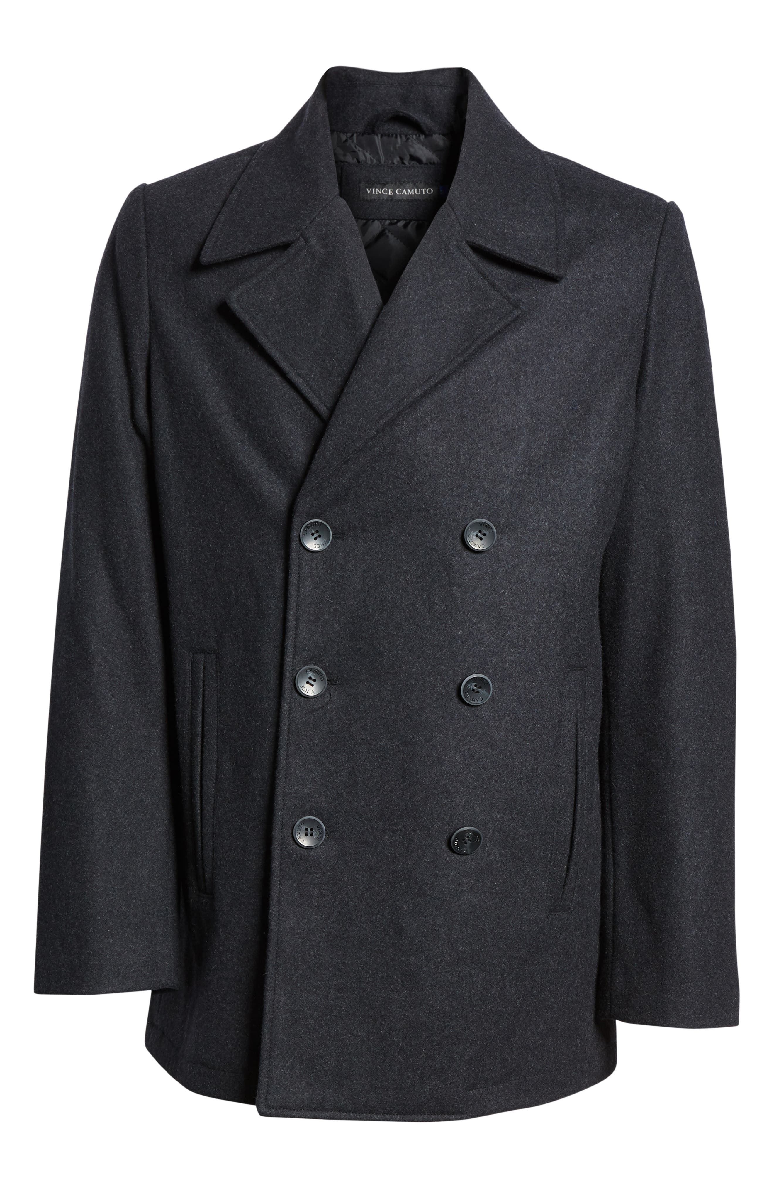 Classic Peacoat,                             Alternate thumbnail 6, color,                             CHARCOAL