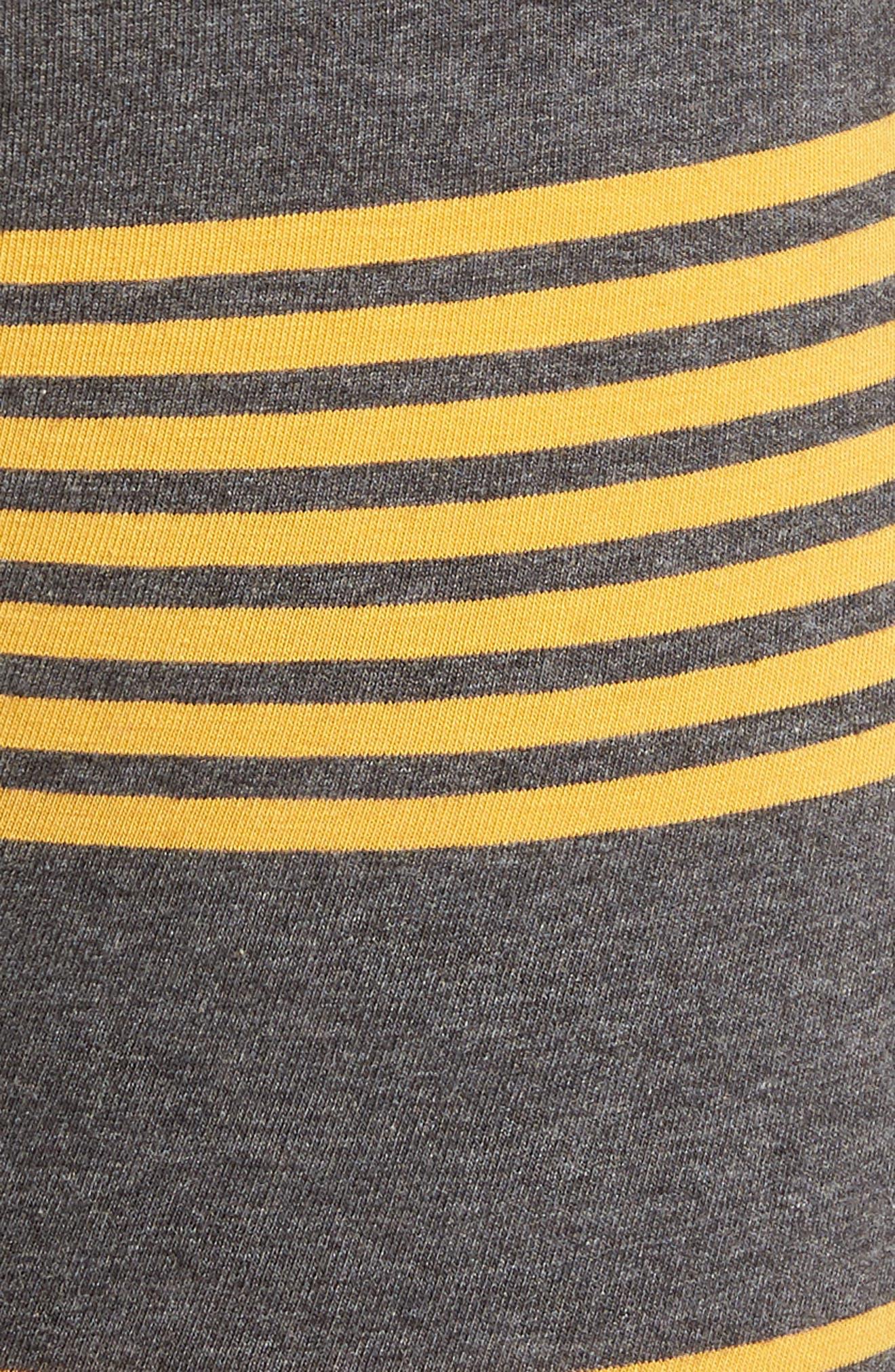 Thurston Cotton Boxer Briefs,                             Alternate thumbnail 5, color,                             CHARCOAL/ GOLD