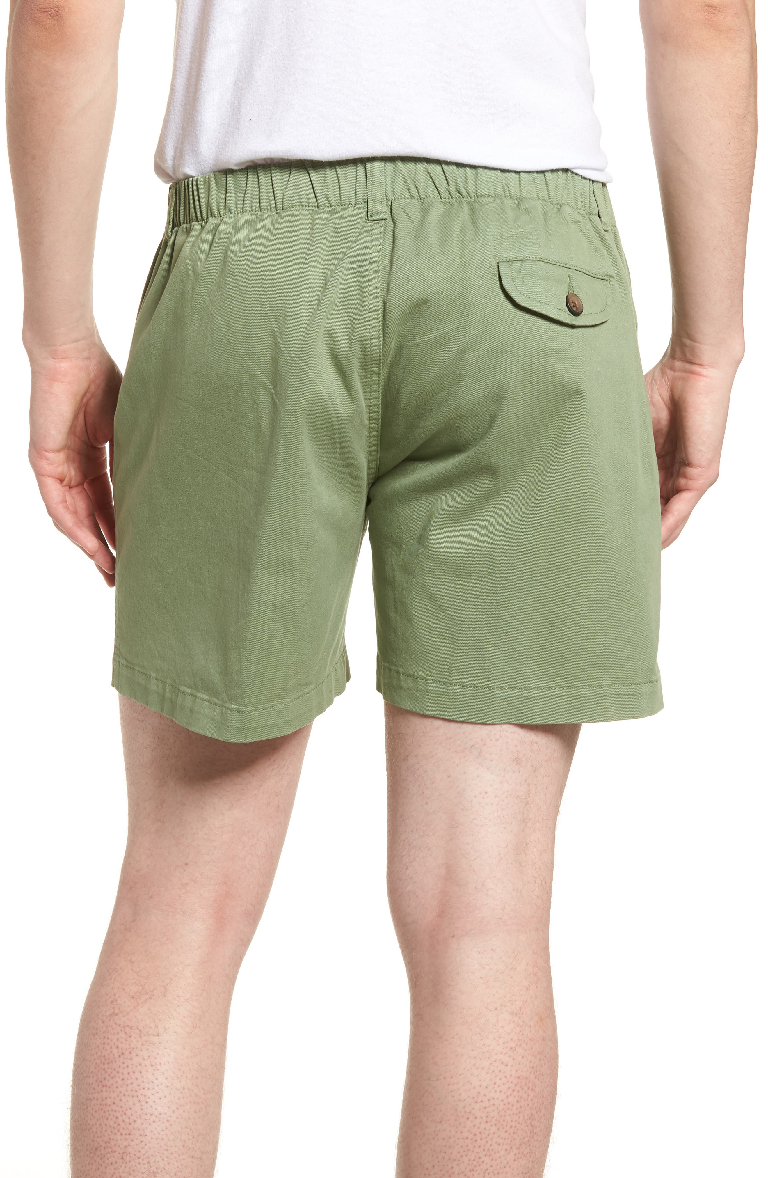 Snappers Elastic Waist 5.5 Inch Stretch Shorts,                             Alternate thumbnail 2, color,                             HEDGE