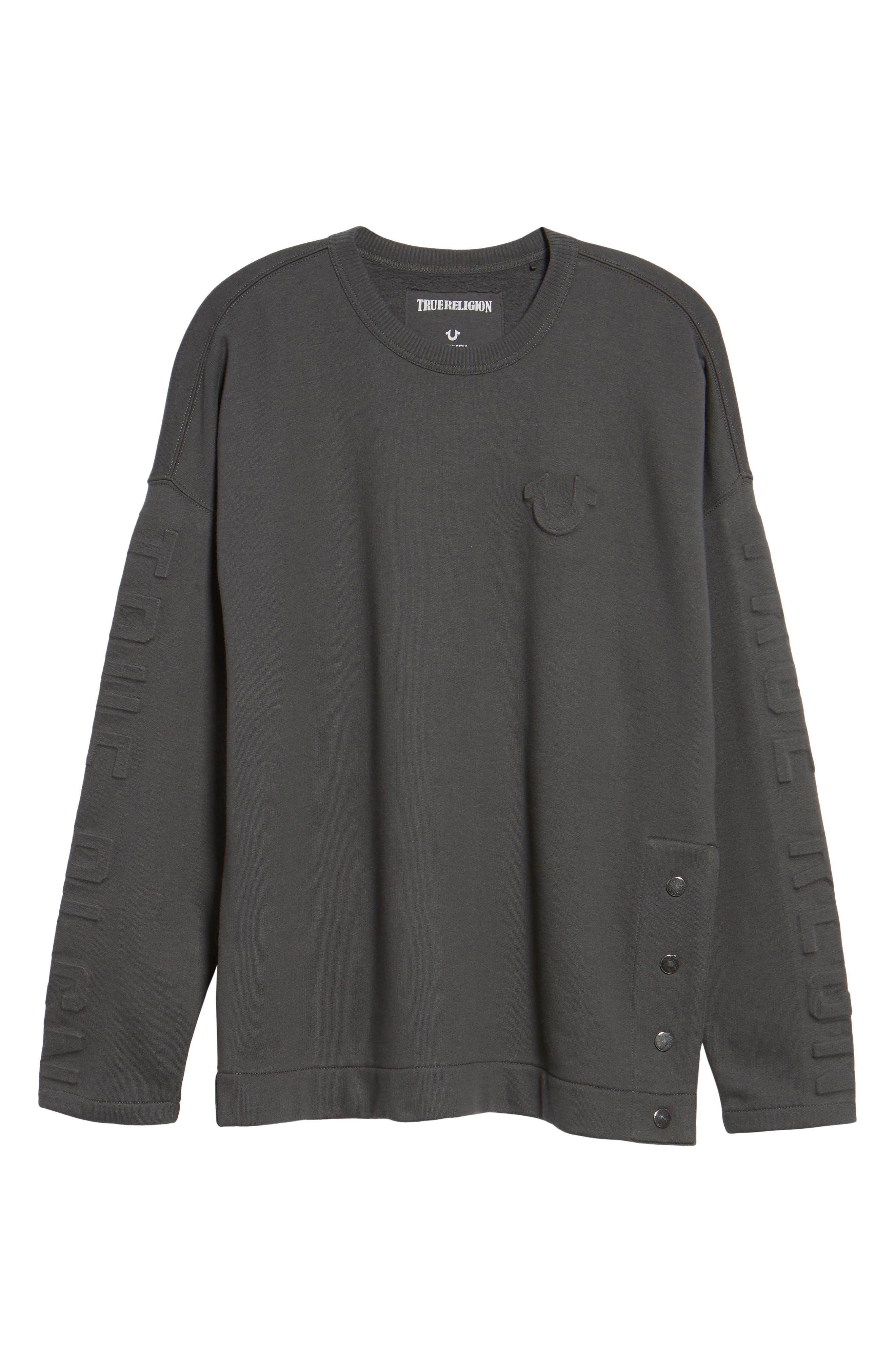 Oversize Fleece Sweatshirt,                             Alternate thumbnail 6, color,                             020