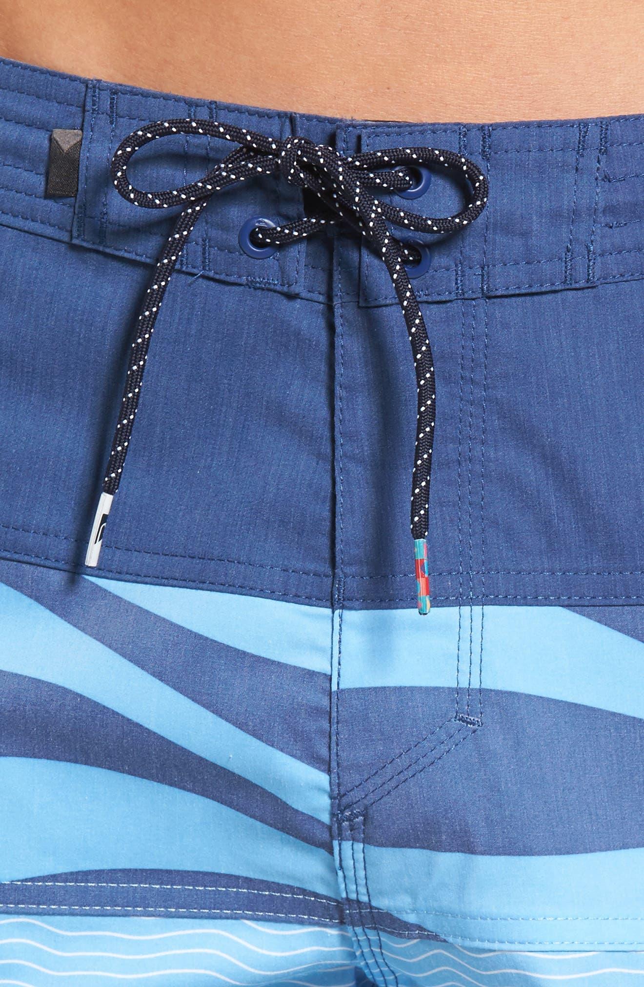 Heatwave Blocked Board Shorts,                             Alternate thumbnail 4, color,                             401