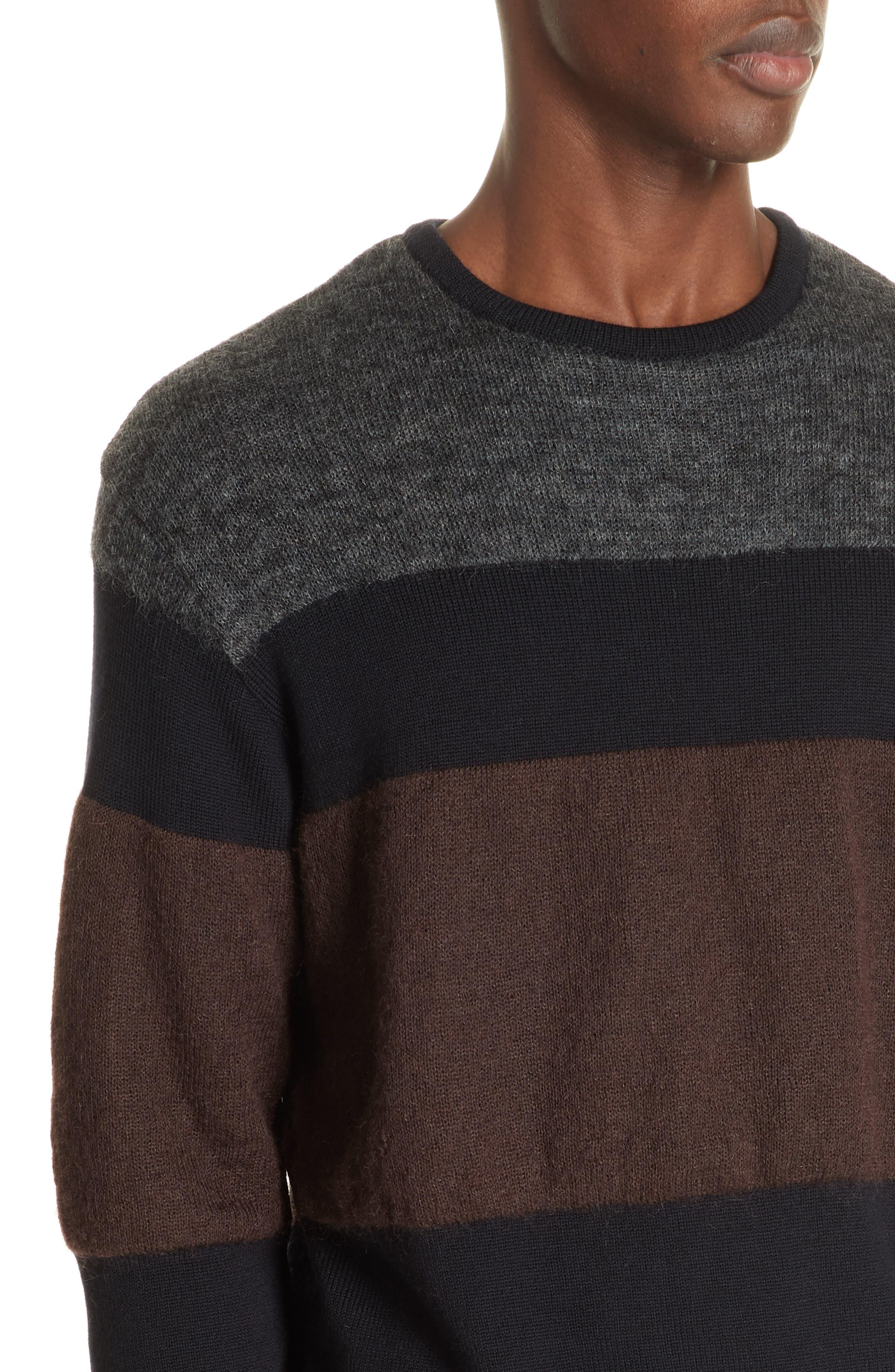 Stripe Sweater,                             Alternate thumbnail 4, color,                             NAVY