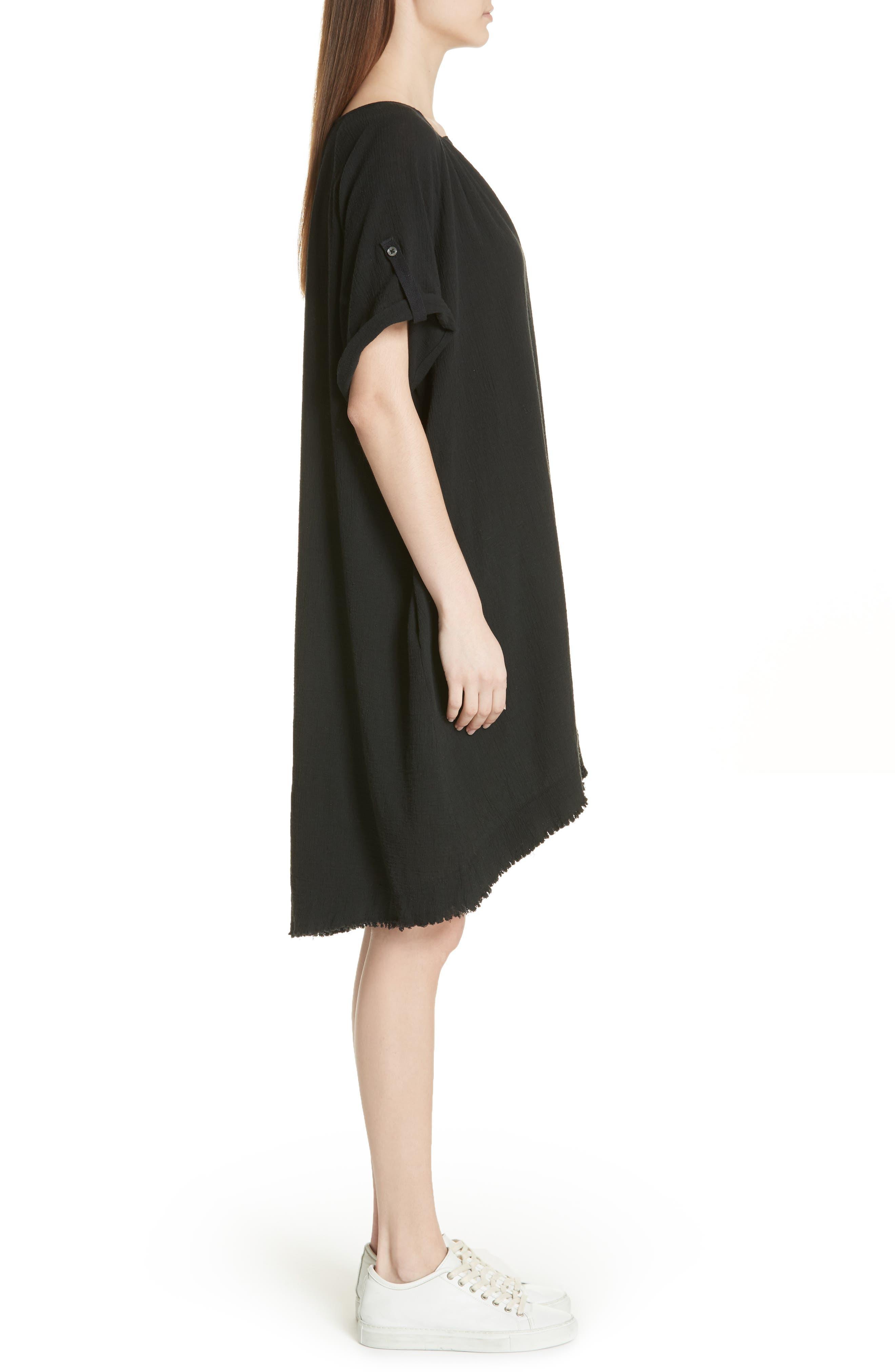 Gauze Dress,                             Alternate thumbnail 3, color,                             001