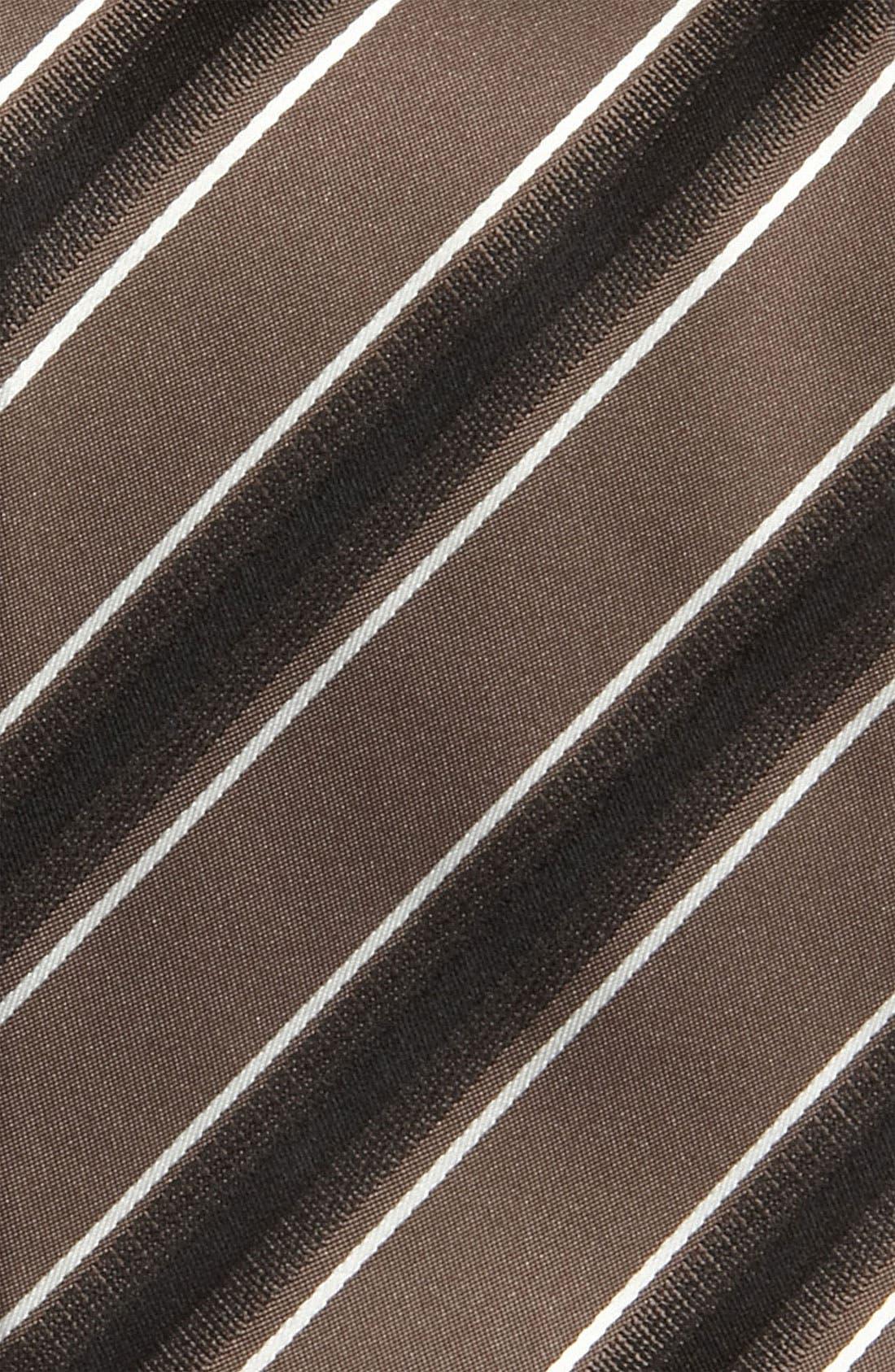 Black Woven Silk Tie,                             Alternate thumbnail 2, color,                             201