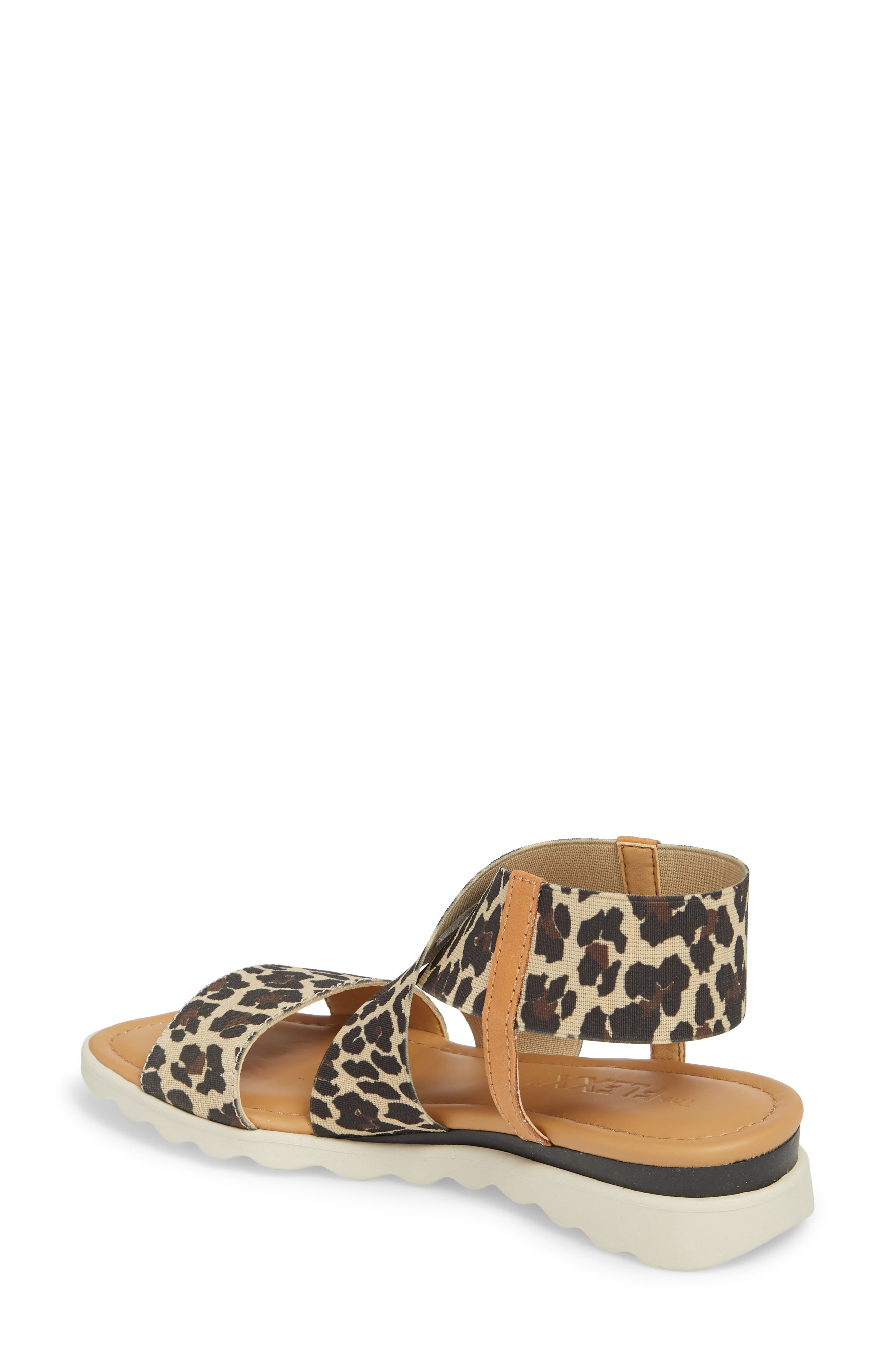 Extra Sandal,                             Alternate thumbnail 2, color,                             DUNE LEOPARD FABRIC