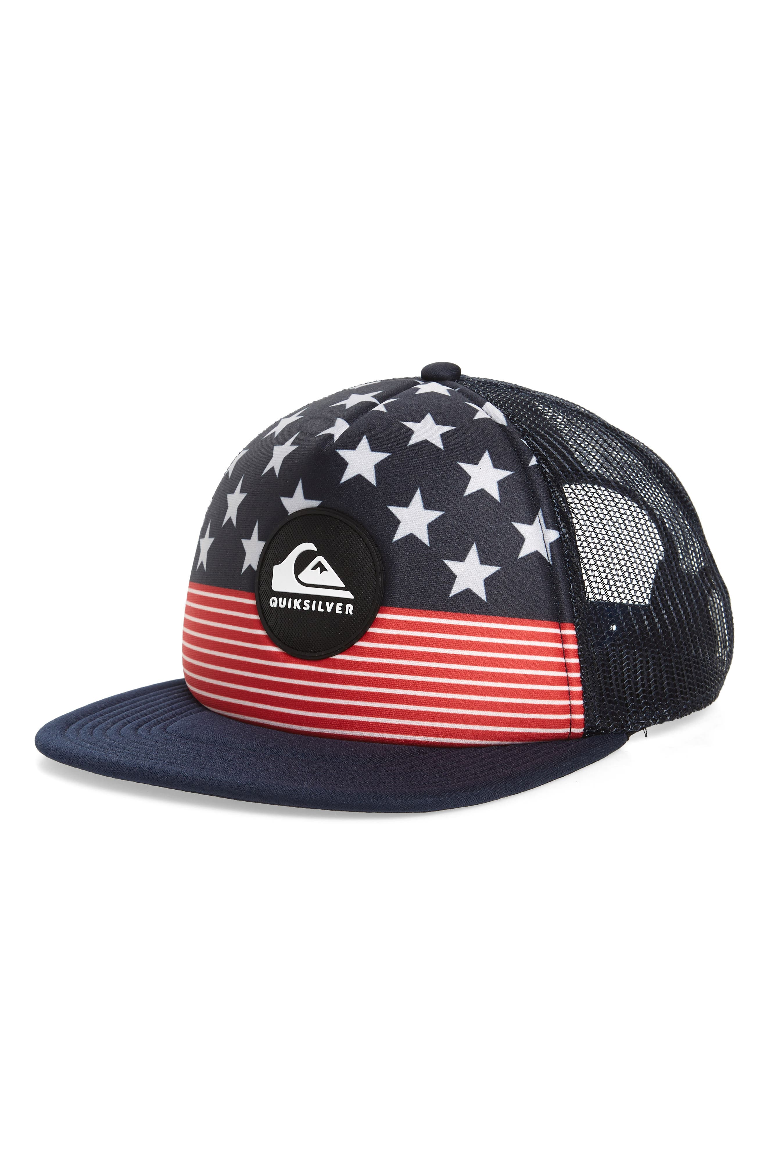 Quicksilver Faded Out Trucker Hat,                             Main thumbnail 3, color,