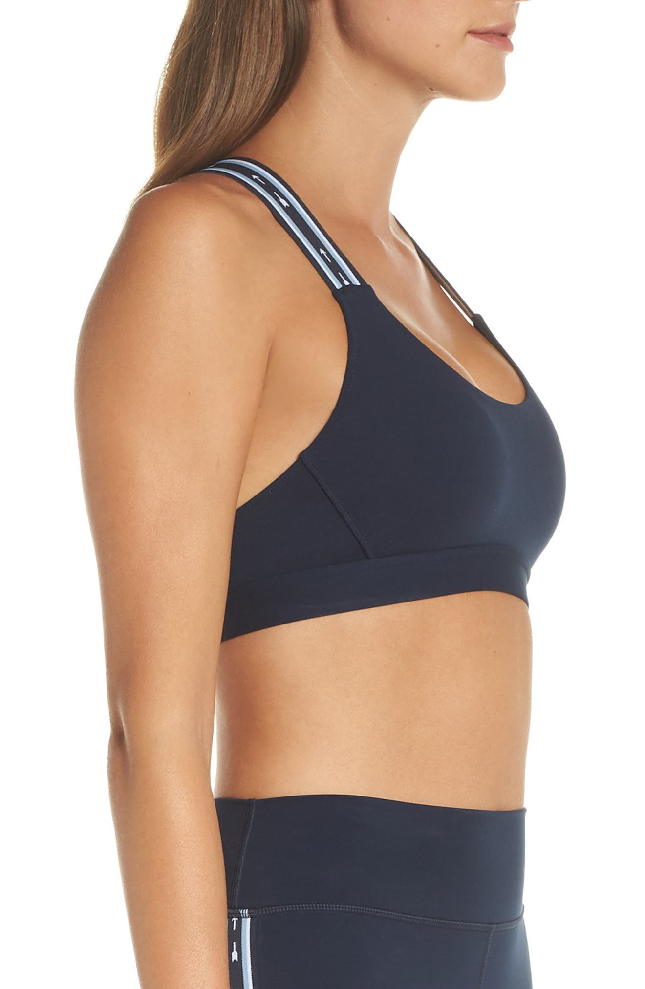 Indigo Matte Alex Sports Bra,                             Alternate thumbnail 3, color,                             INDIGO