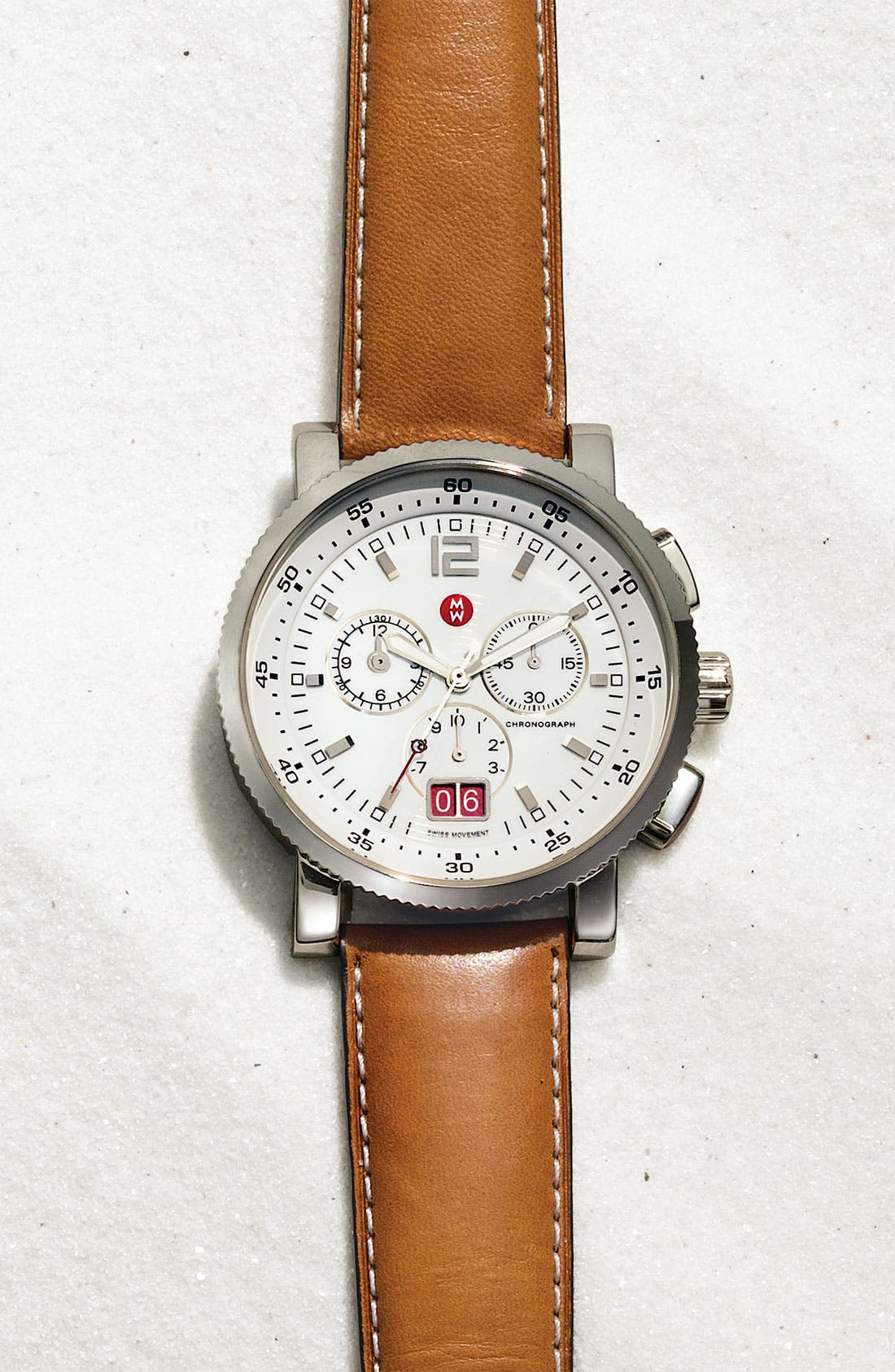 20mm Extra Long Leather Watch Strap,                             Alternate thumbnail 2, color,                             SADDLE