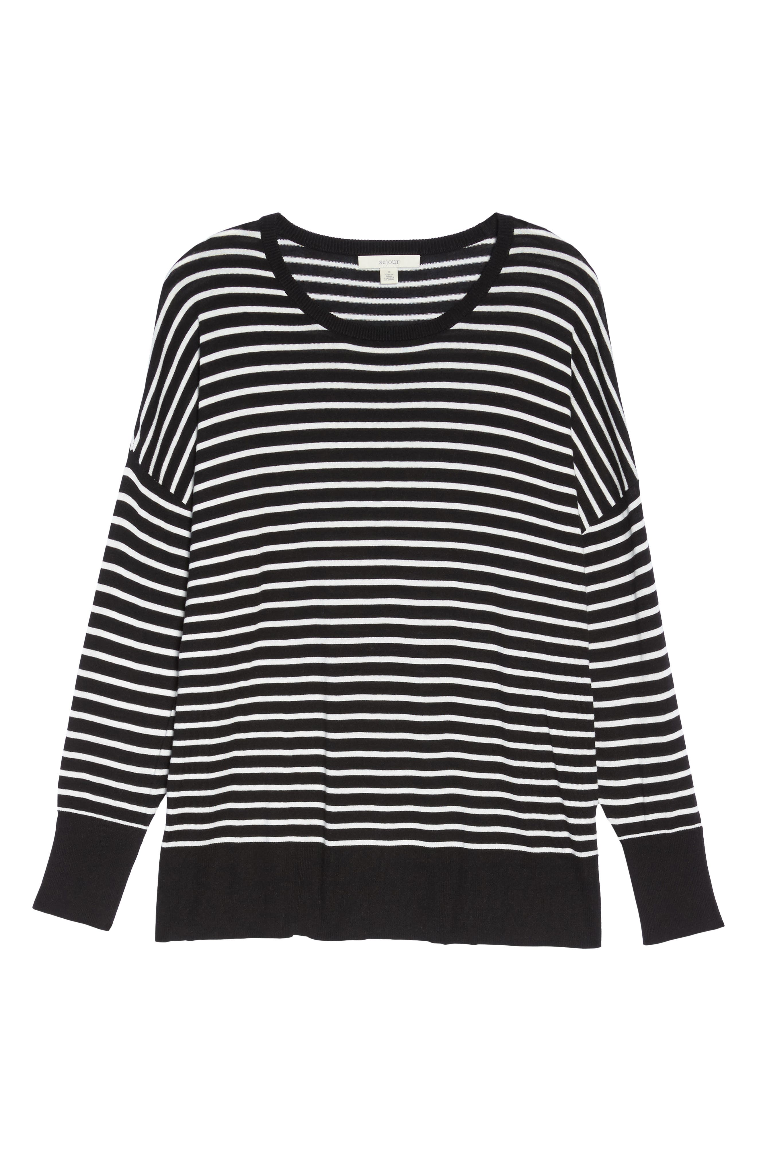Dolman Sleeve Crewneck Sweater,                             Alternate thumbnail 6, color,                             002