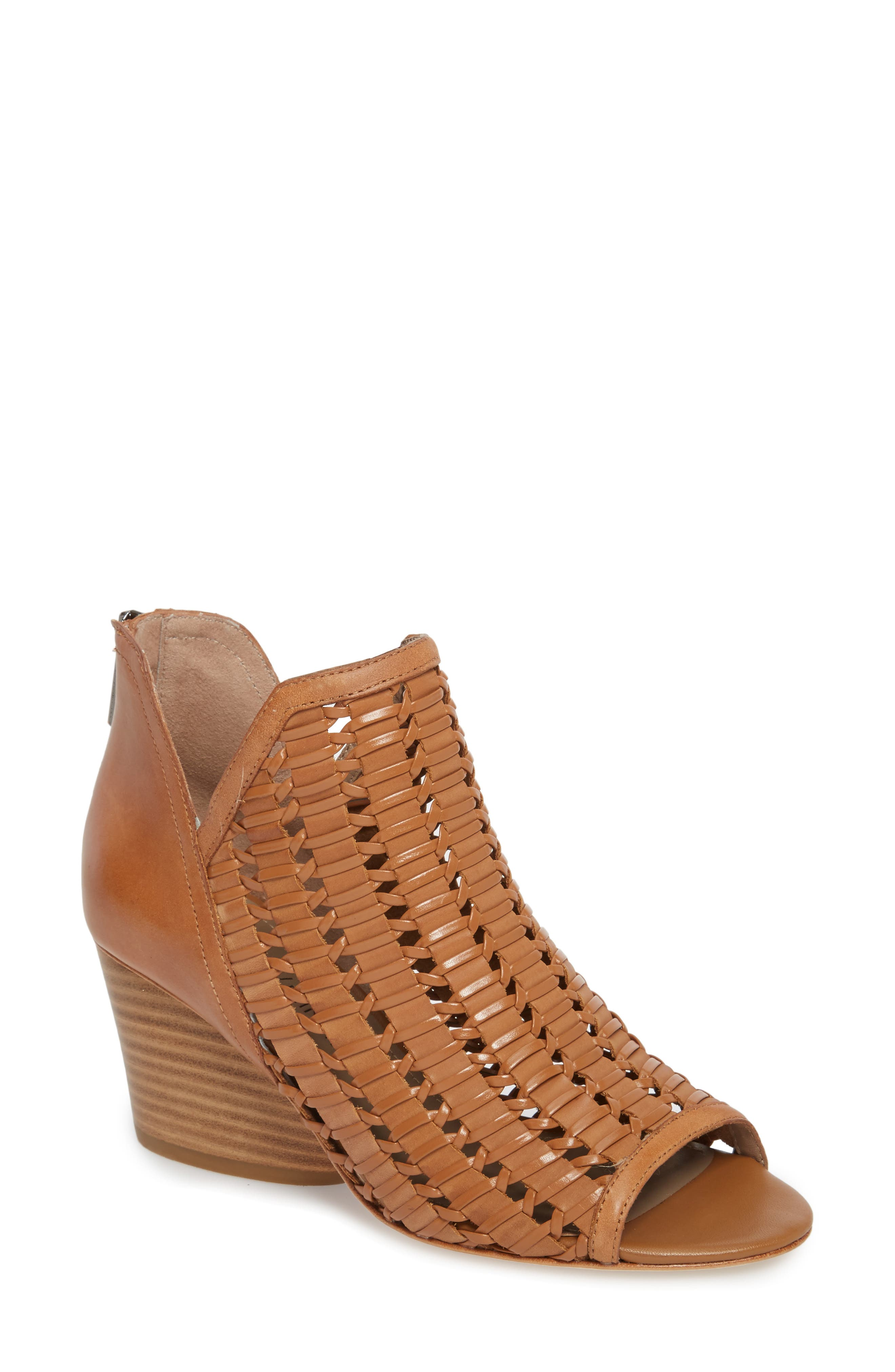 Jacqi Woven Open Toe Bootie,                             Main thumbnail 2, color,