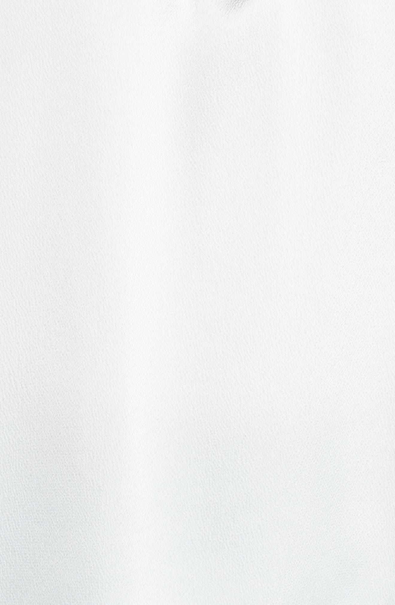 Hammered Satin Flutter Sleeve Blouse,                             Alternate thumbnail 5, color,                             ANTIQ WHITE