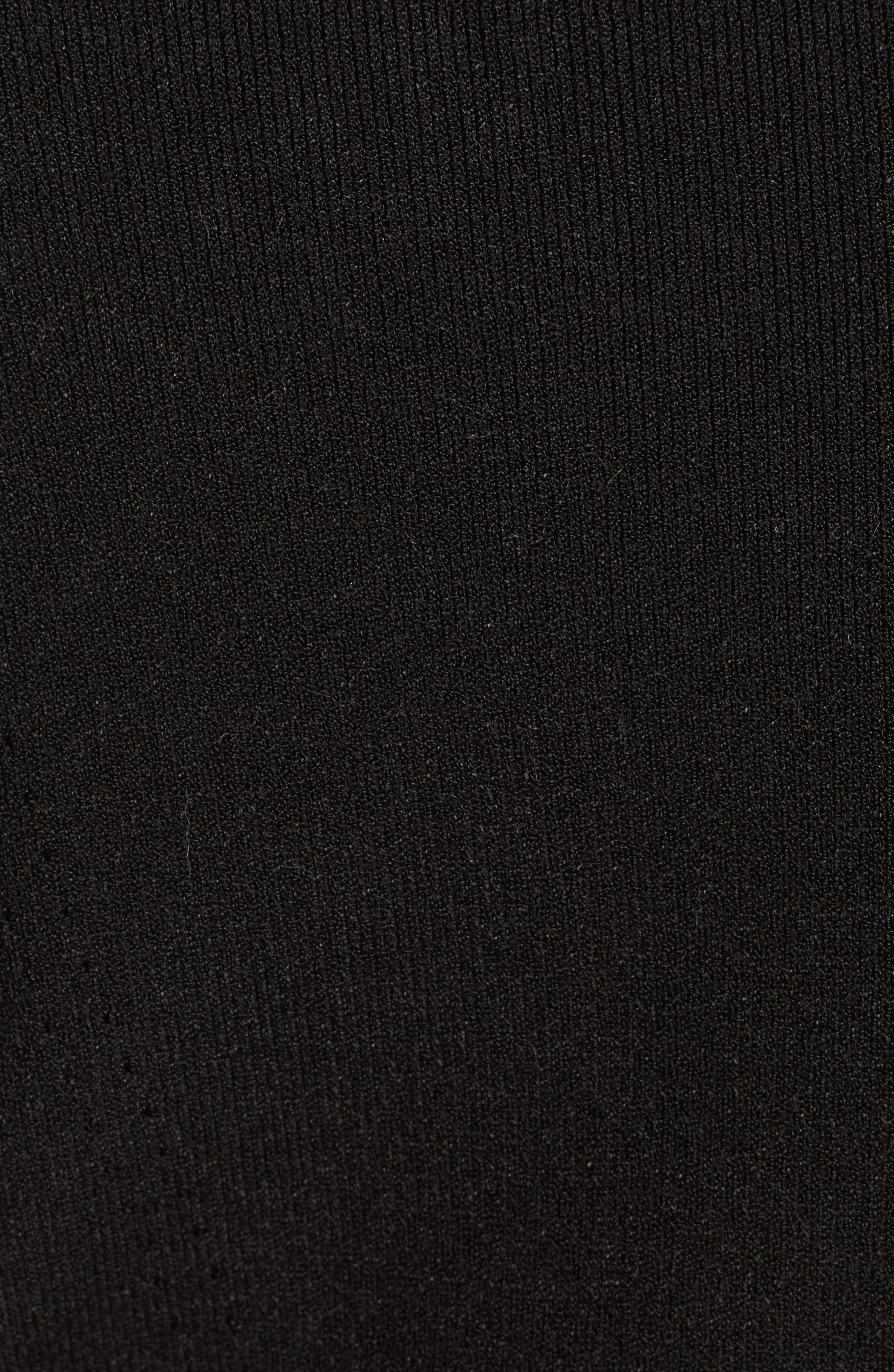 Macramé Inset Knit Dress,                             Alternate thumbnail 5, color,                             001