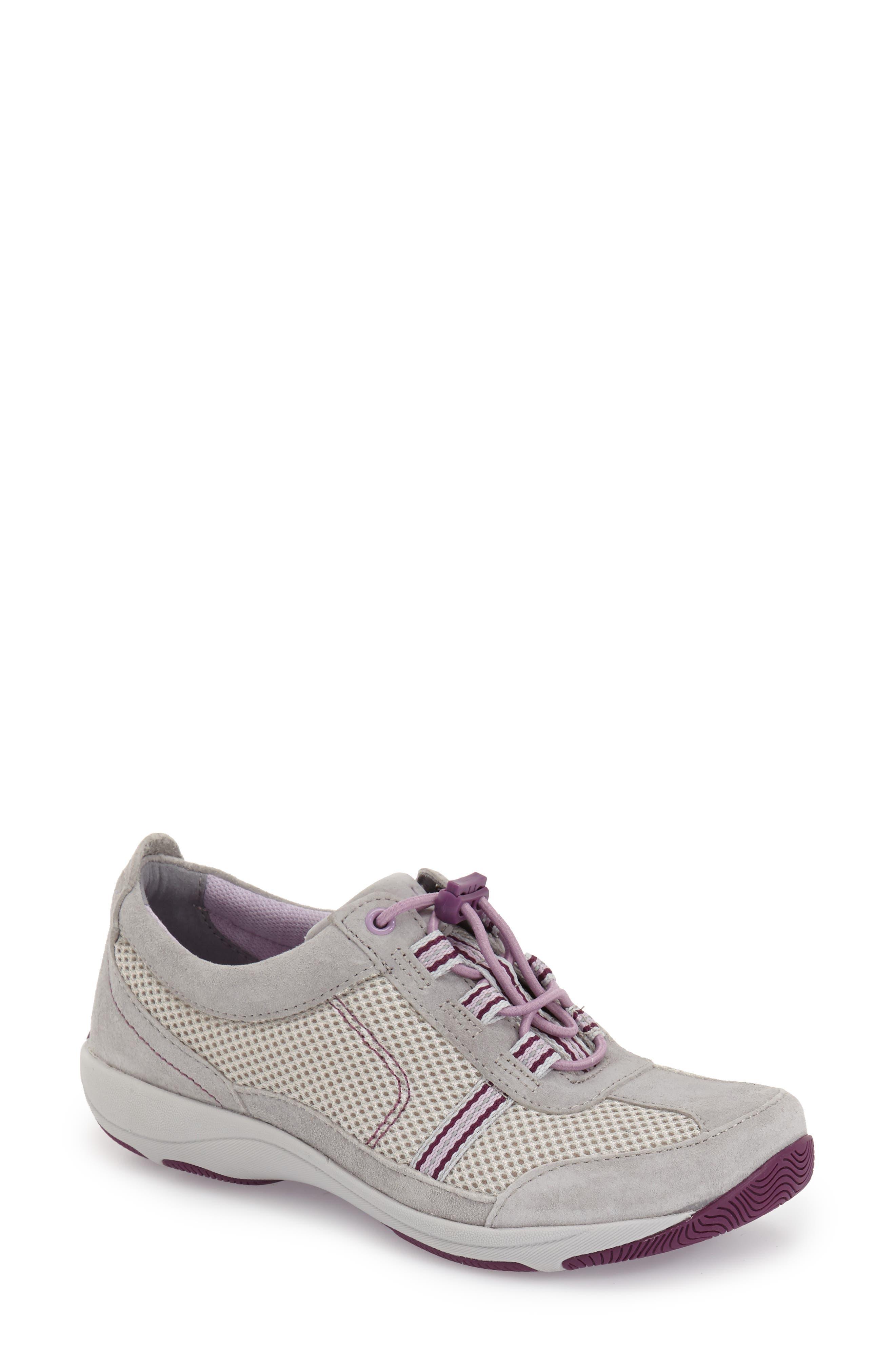 'Helen' Suede & Mesh Sneaker,                             Alternate thumbnail 68, color,