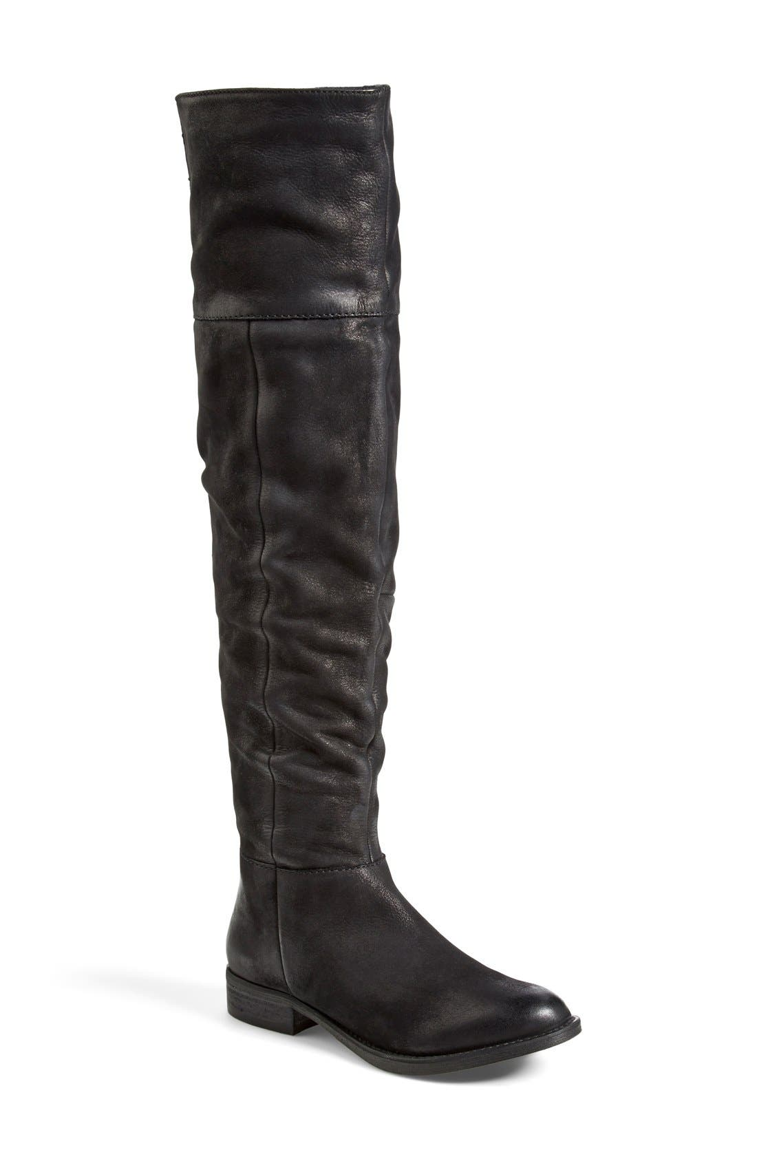 'Heisnbrg' Leather Over the Knee Boot,                             Main thumbnail 1, color,                             001
